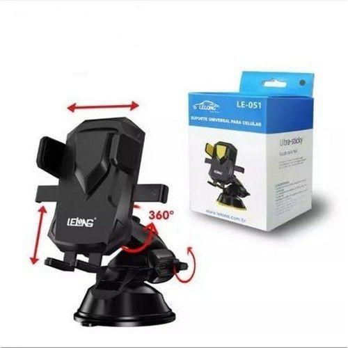 Suporte De Celular GPS Carro Veicular Trava Automática Lelong LE-051