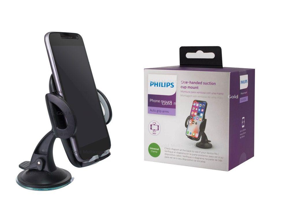Suporte De celular Gps Veicular C/Ventosa Base Giratória Philips Dlk2412Sb/97