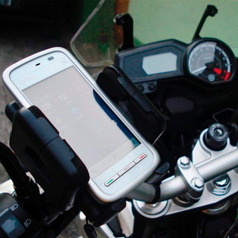 Suporte Universal para Moto e Bike Serve Celular e GPS Lelong LE-024