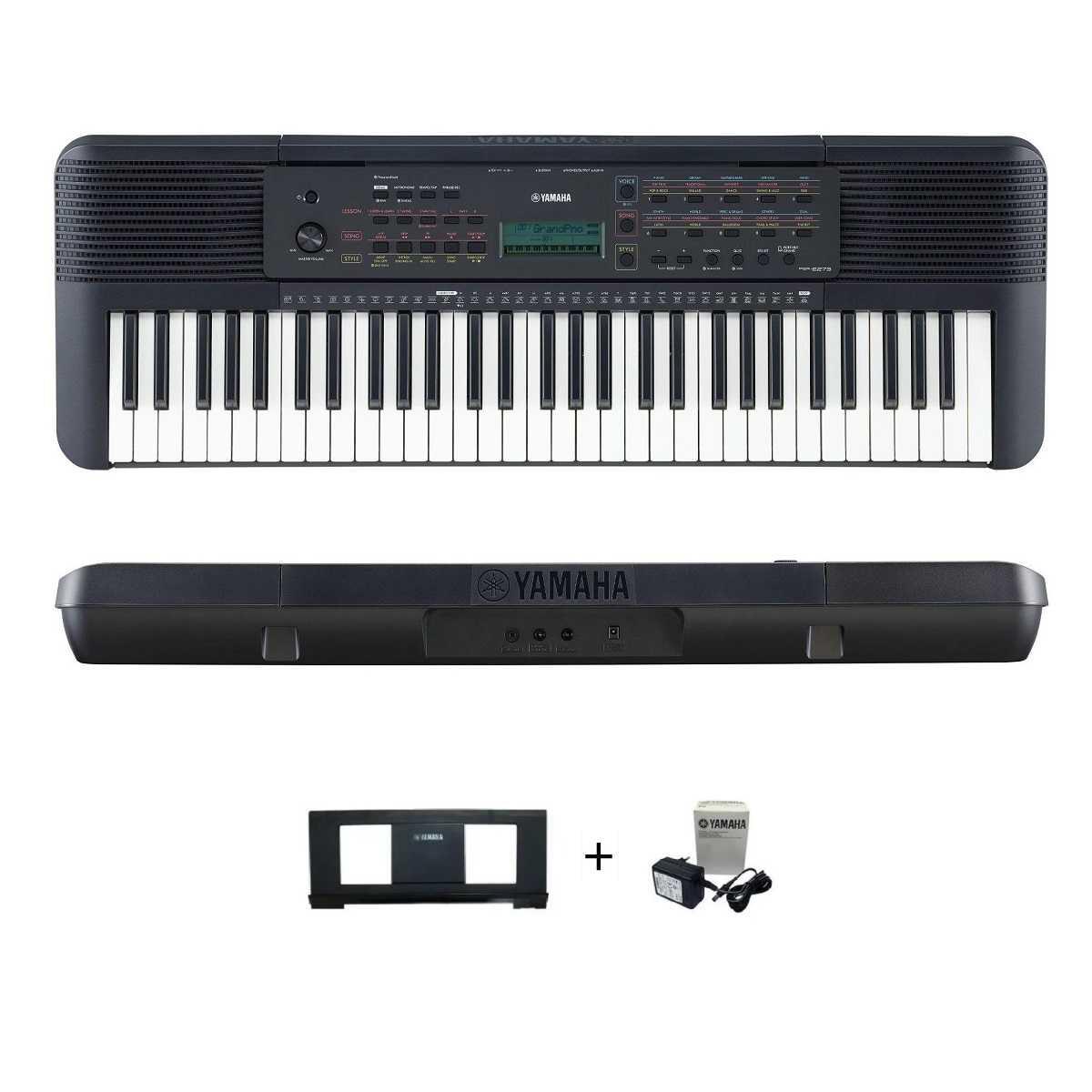 Teclado Musical Yamaha PSR-E273 Preto 61 Teclas