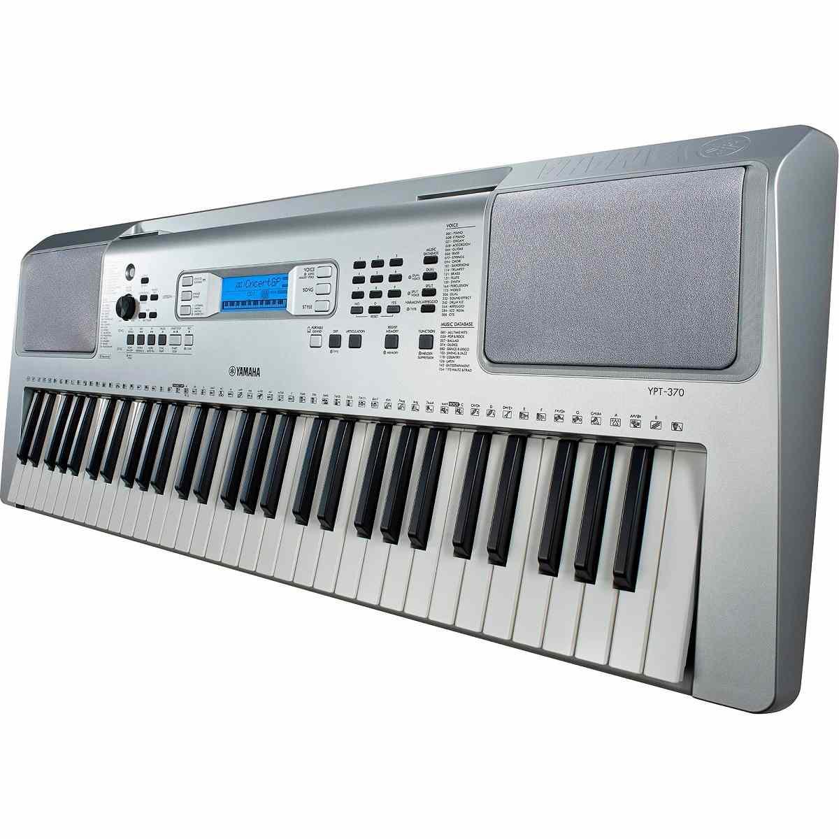 Teclado Musical Yamaha YPT370 Prata