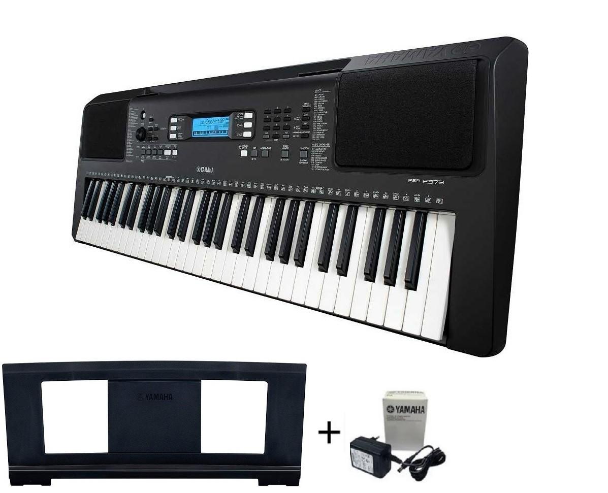 Teclado Musical Arranjador Yamaha PSR-E373 Preto + Fonte Bivolt