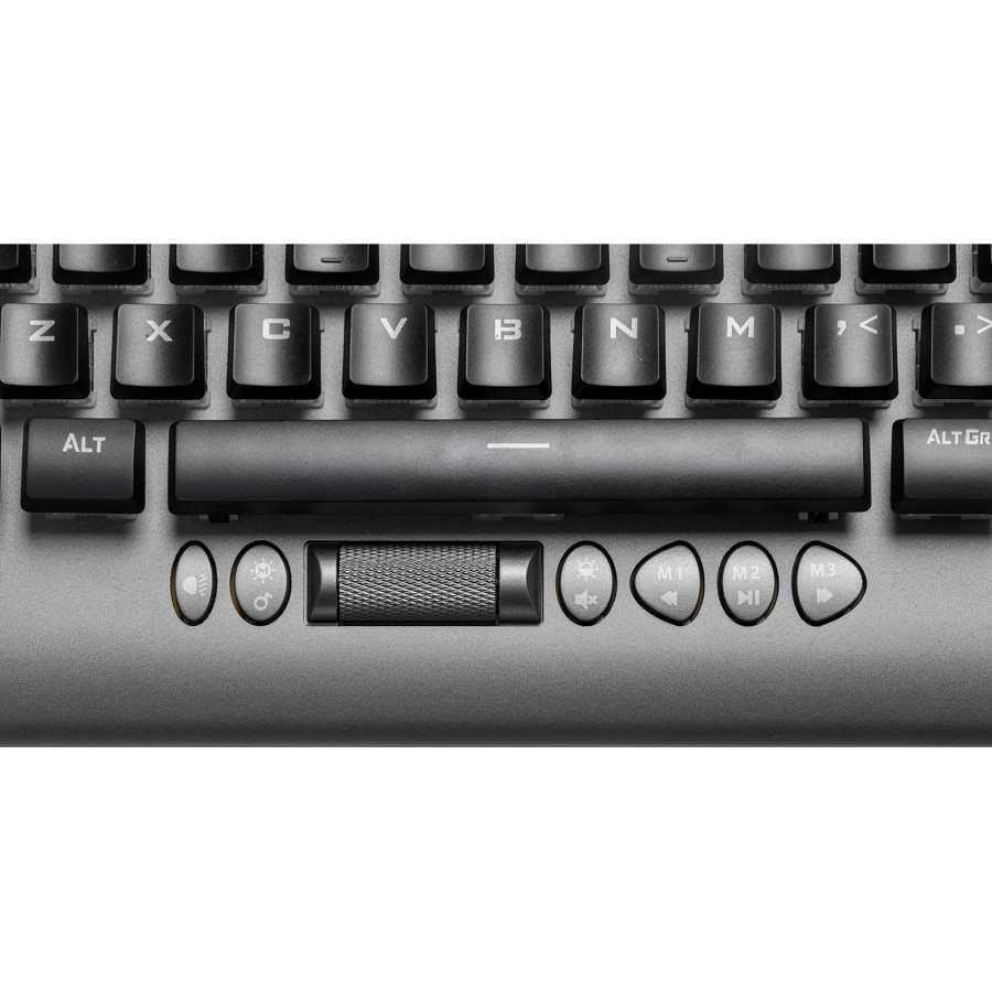 Teclado Gamer Mecânico Led RGB Cruiser Dark Grey Fortrek