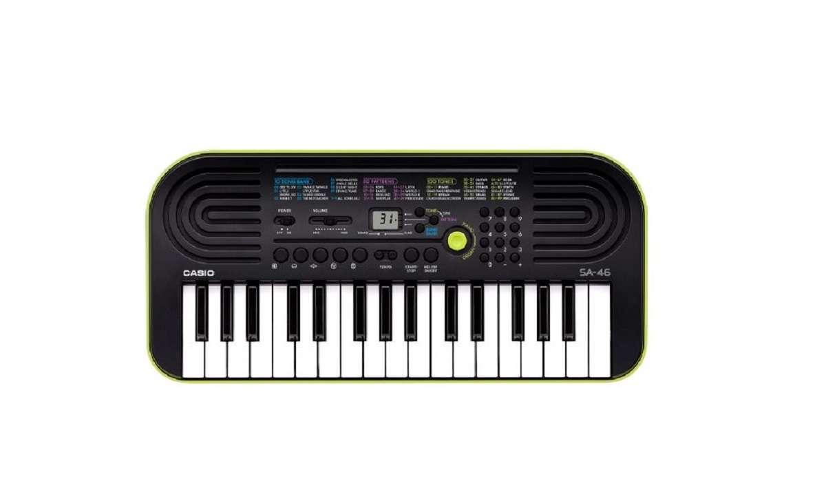 Teclado infantil Musical Casio Mini SA-46 32 Teclas Preto/Verde