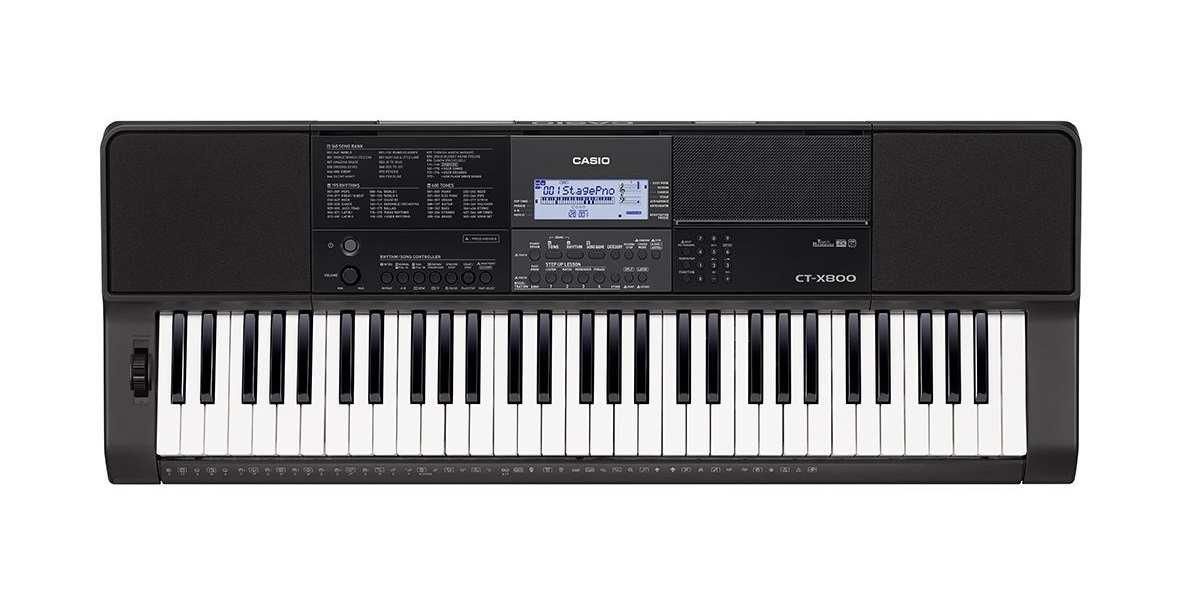 Teclado Musical Casio Intermediario Digital Preto CT-X800C2-BR Bivolt