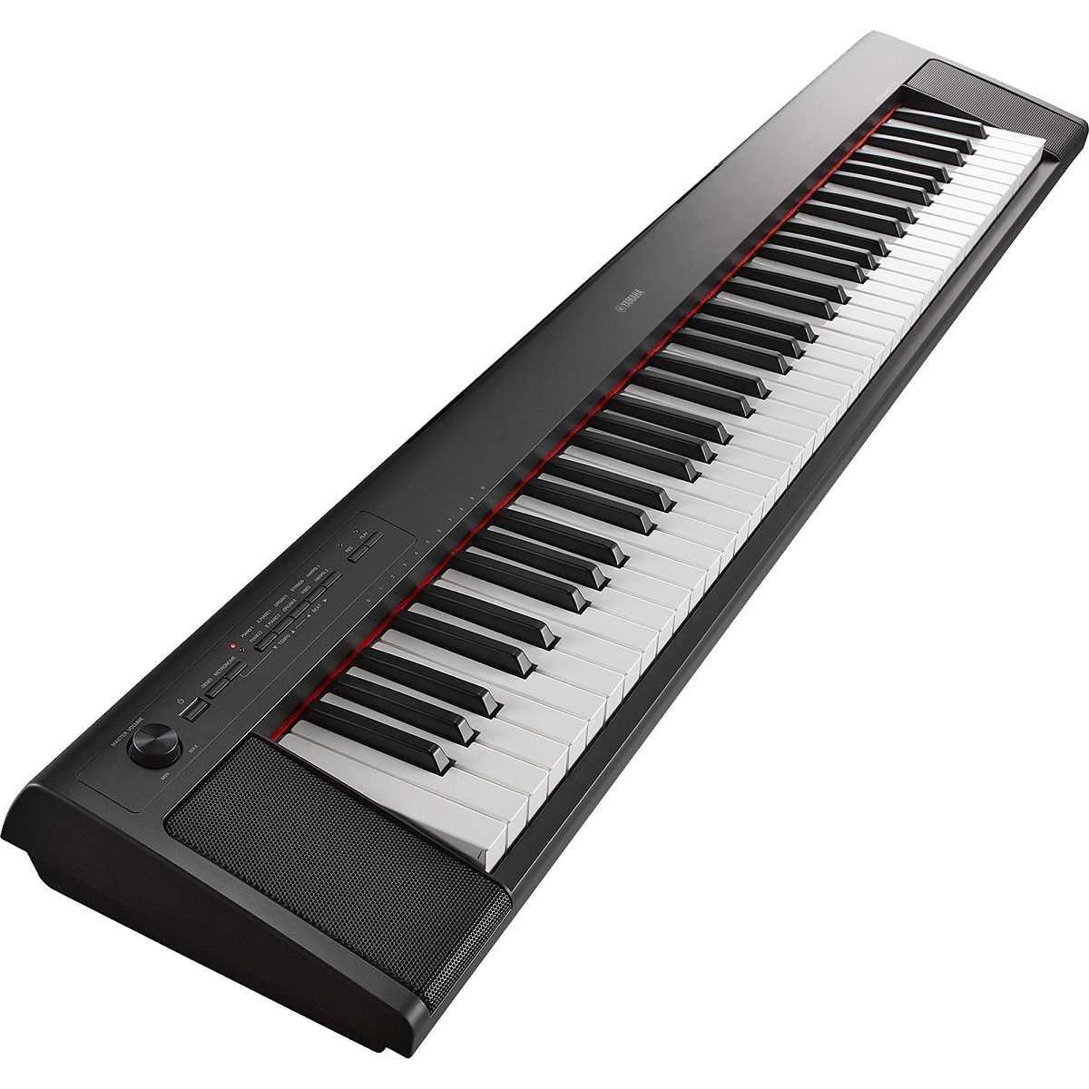 Teclado Piaggero NP-32B Preto Yamaha Com Fonte Bivolt