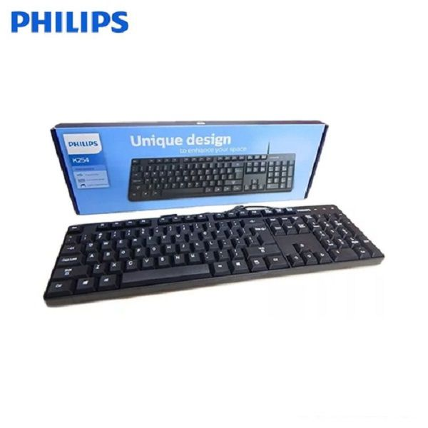 Teclado USB Philips K254 Unique Design Compacto