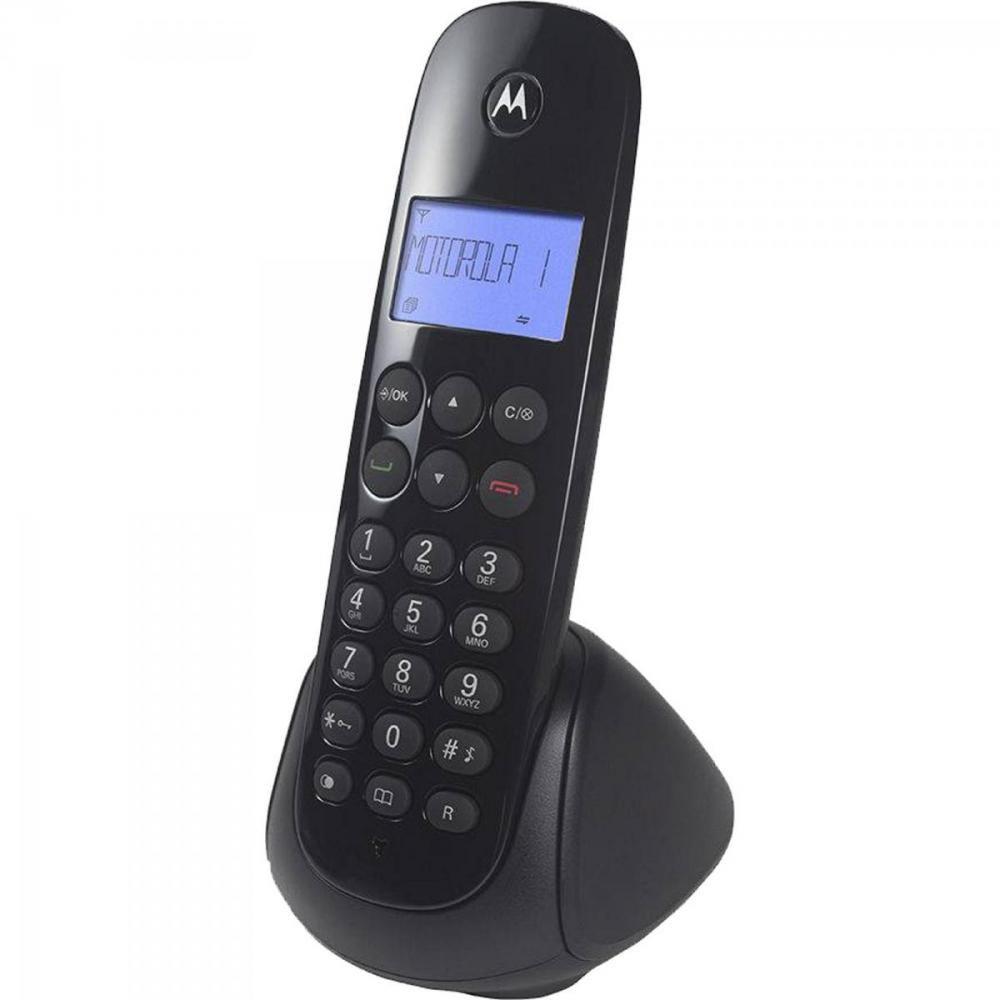 Telefone Motorola Moto 700 S/Fio Preto C/Identificar-Iluminação Bivolt