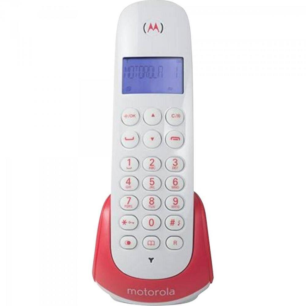 Telefone S/ fio Com Id De Chamada MOTO700S Branco/Vermelho Motorola