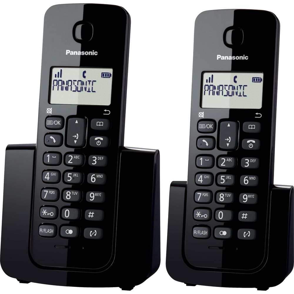 Telefone Sem Fio c/ID De Chamadas Base + Ramal KX-TGB112LBB Preto Panasonic