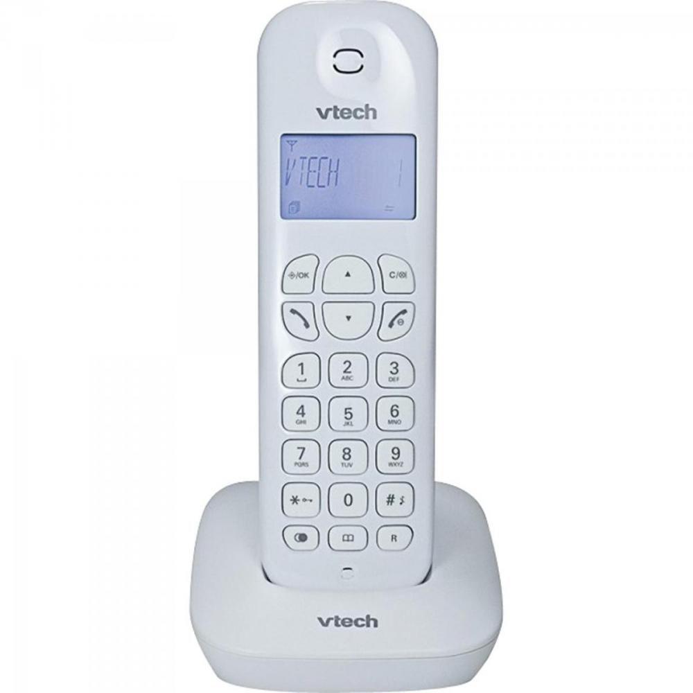 Telefone Sem Fio Id Chamadas Digital  VT680W  Vtech Branco
