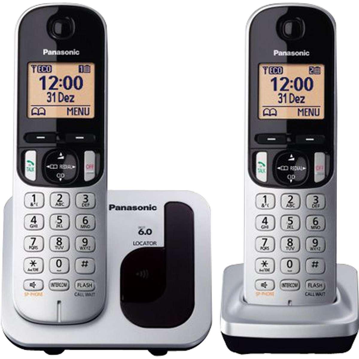 Telefone S/fio Viva Voz c/ID Base + Ramal KX-TGC212LB1 Panasonic