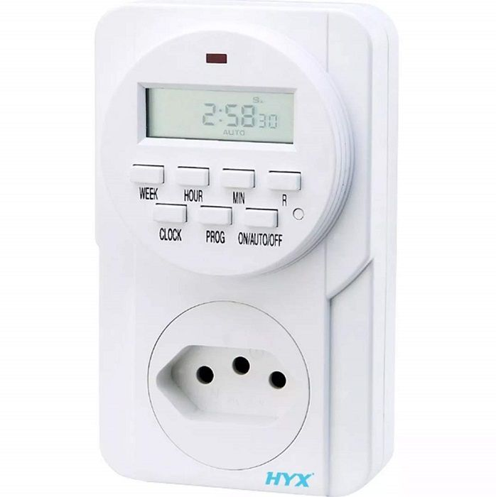 Timer Digital Temporizador Liga Desliga 24h Bivolt TMD-101 HYX