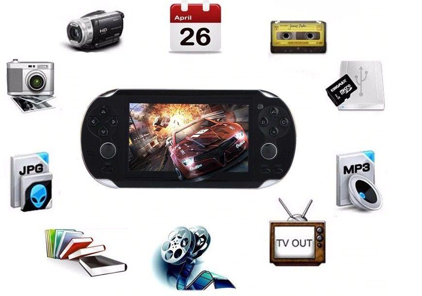 Vídeo Game Portátil 4.000 Jogos Arcade Roda Jogos Nes Nintendo Sega Gba Azul
