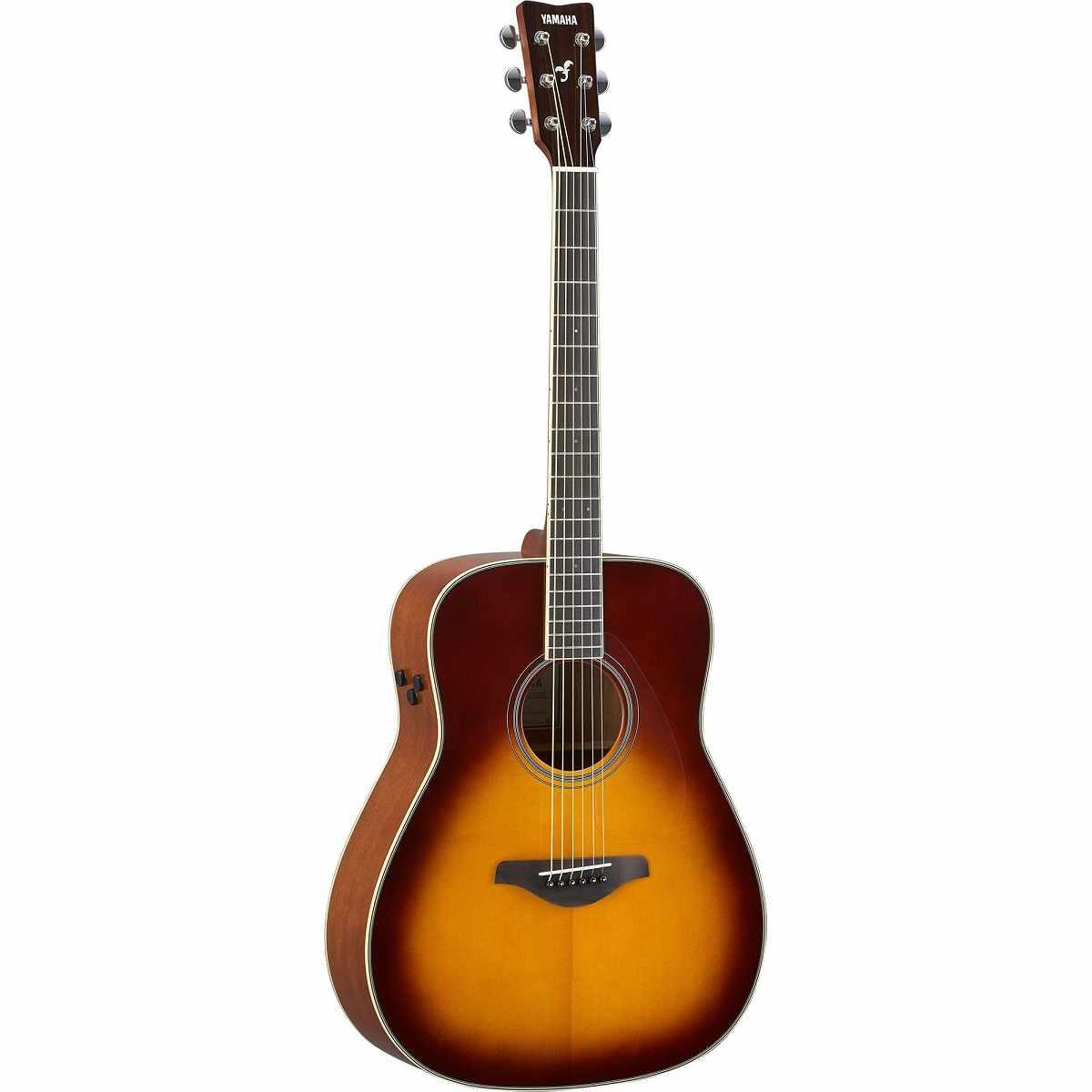 Violão TransAcoustic Western Tradicional Aço FG-TA Brown Sunburst Yamaha