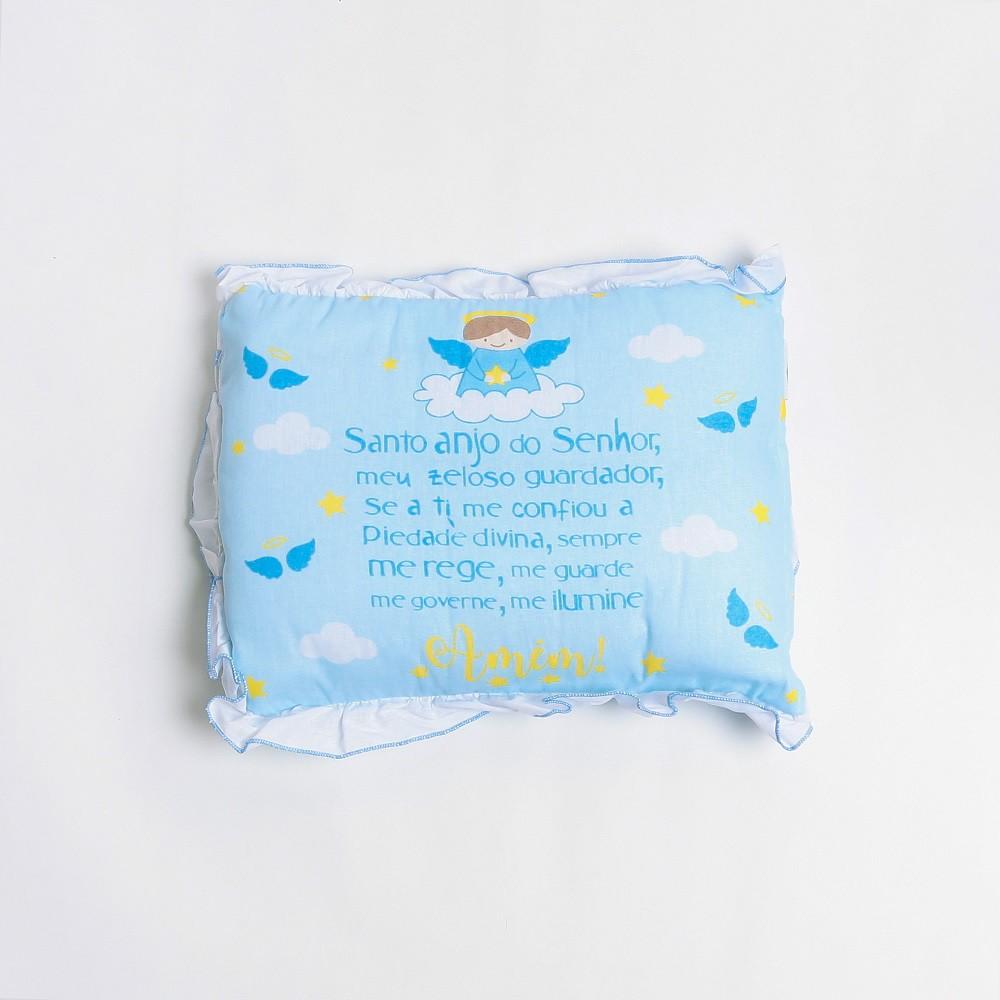 Almofada Para Bebê Retangular E Estampa Anjinho - Incomfral