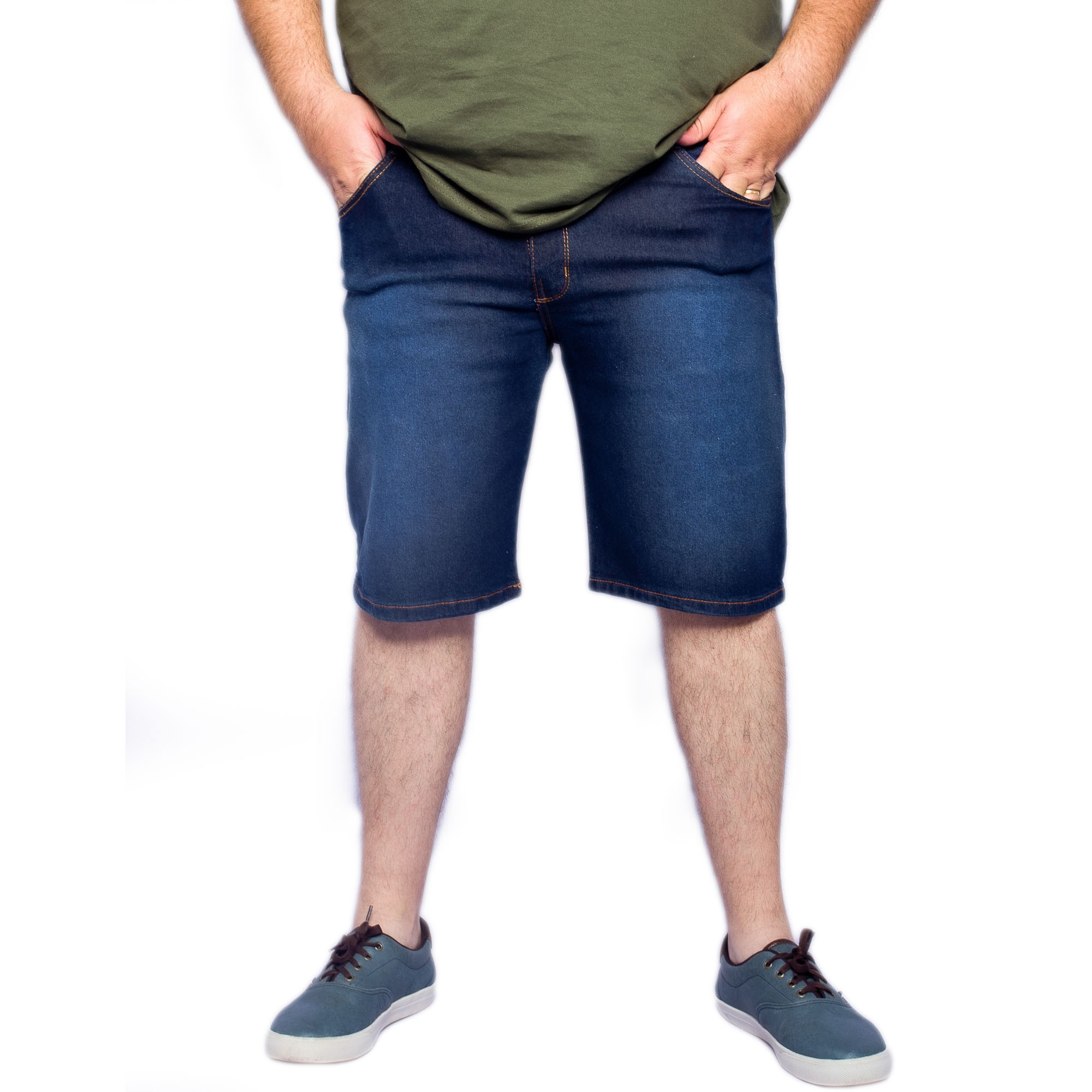 Bermuda Masculina Jeans Plus Size - Aizone