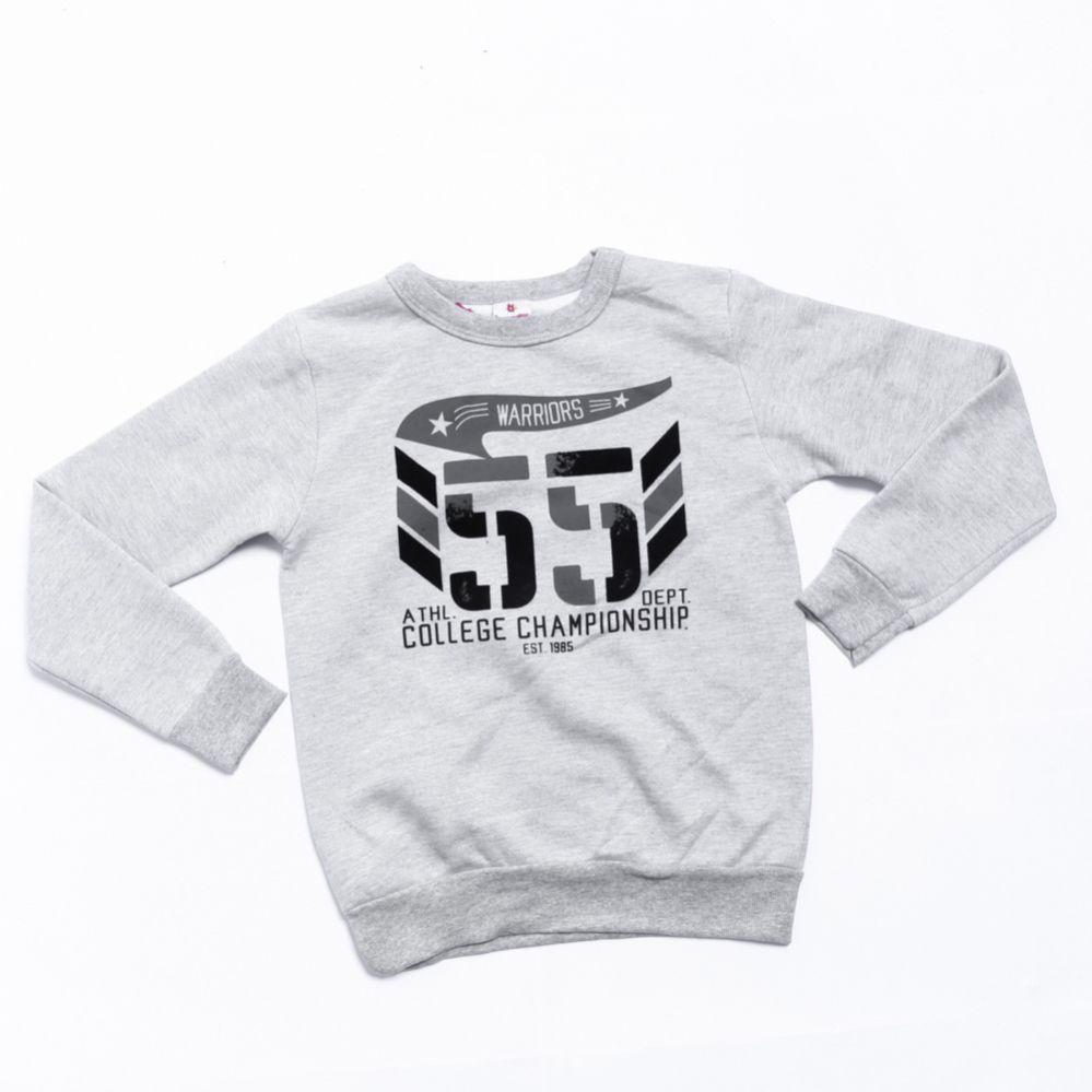 Blusa de Frio Infantil Menino Cinza 55 - Brandili