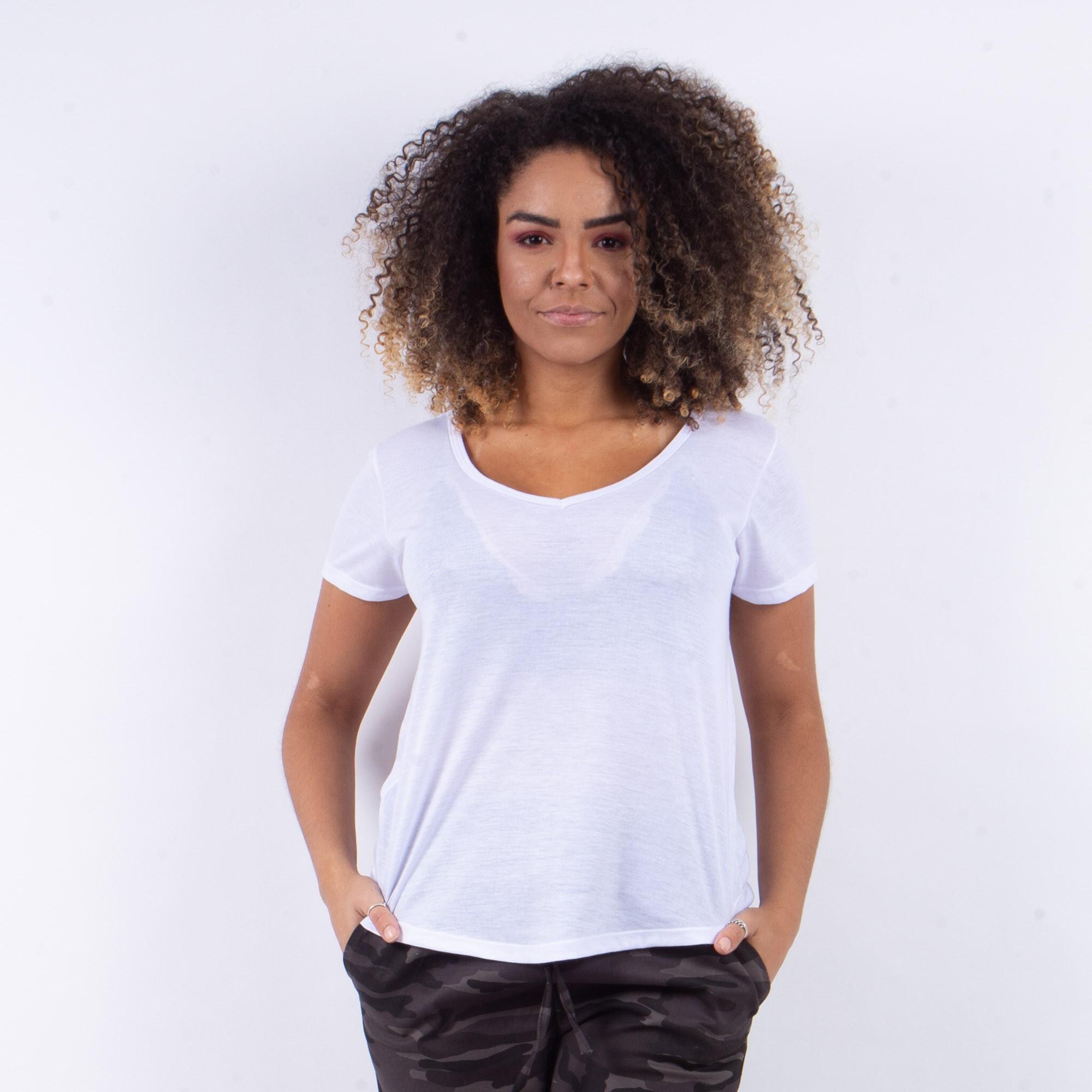 Blusinha Branca Básica Lisa