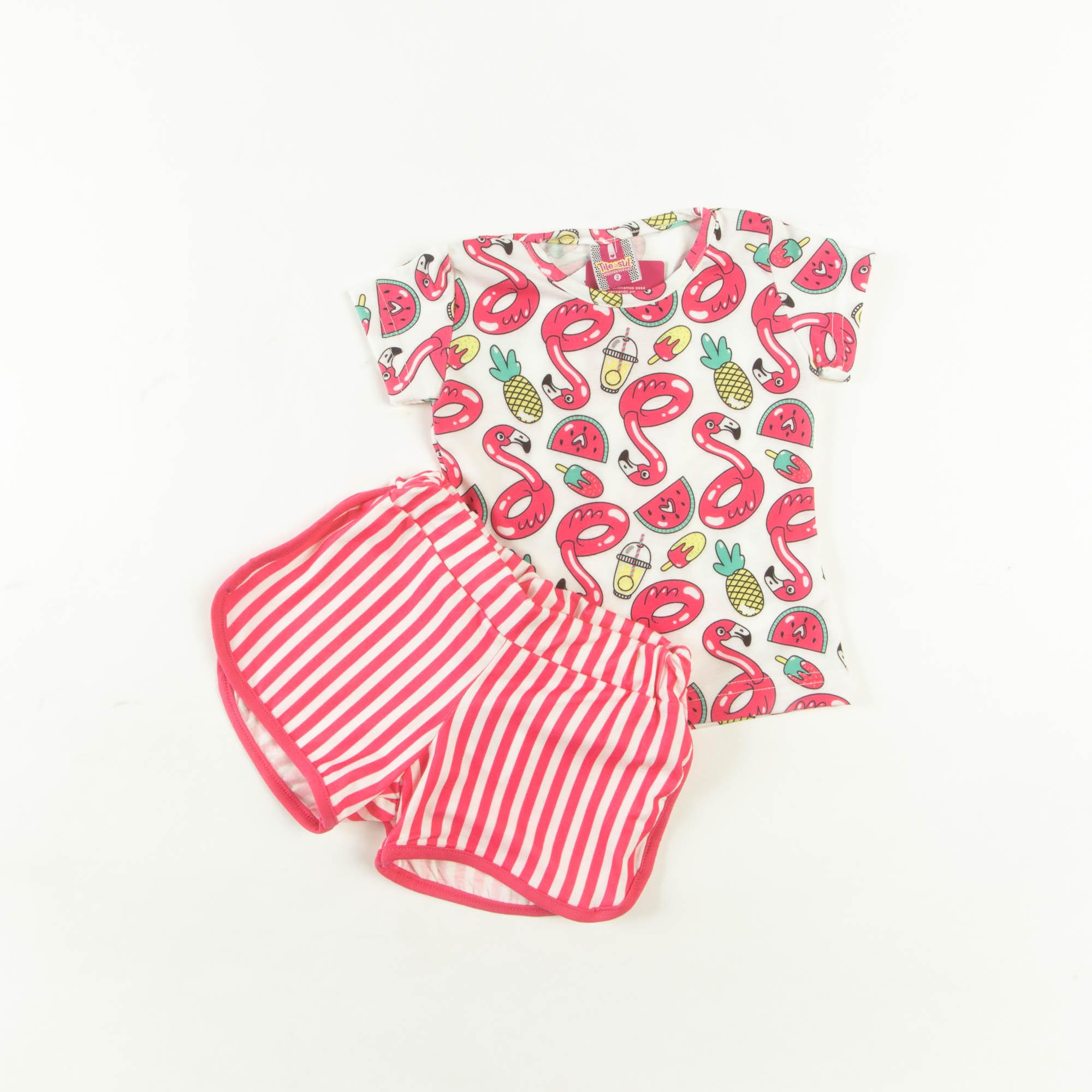 Blusinha Com Short Infantil - 2/3