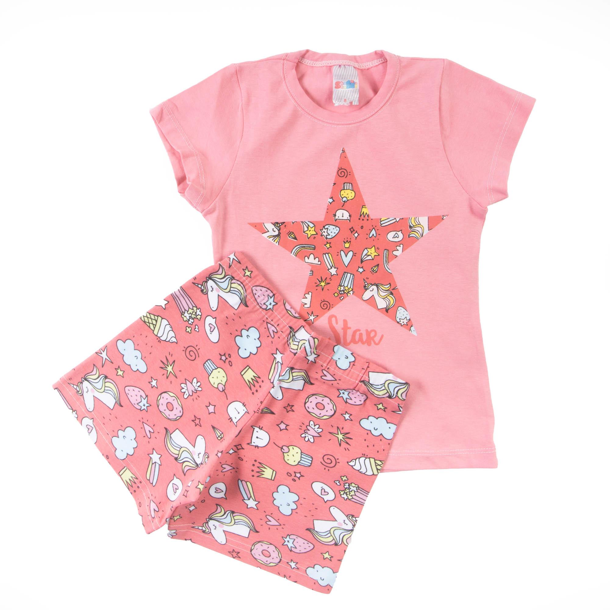 Blusinha Com Short Infantil
