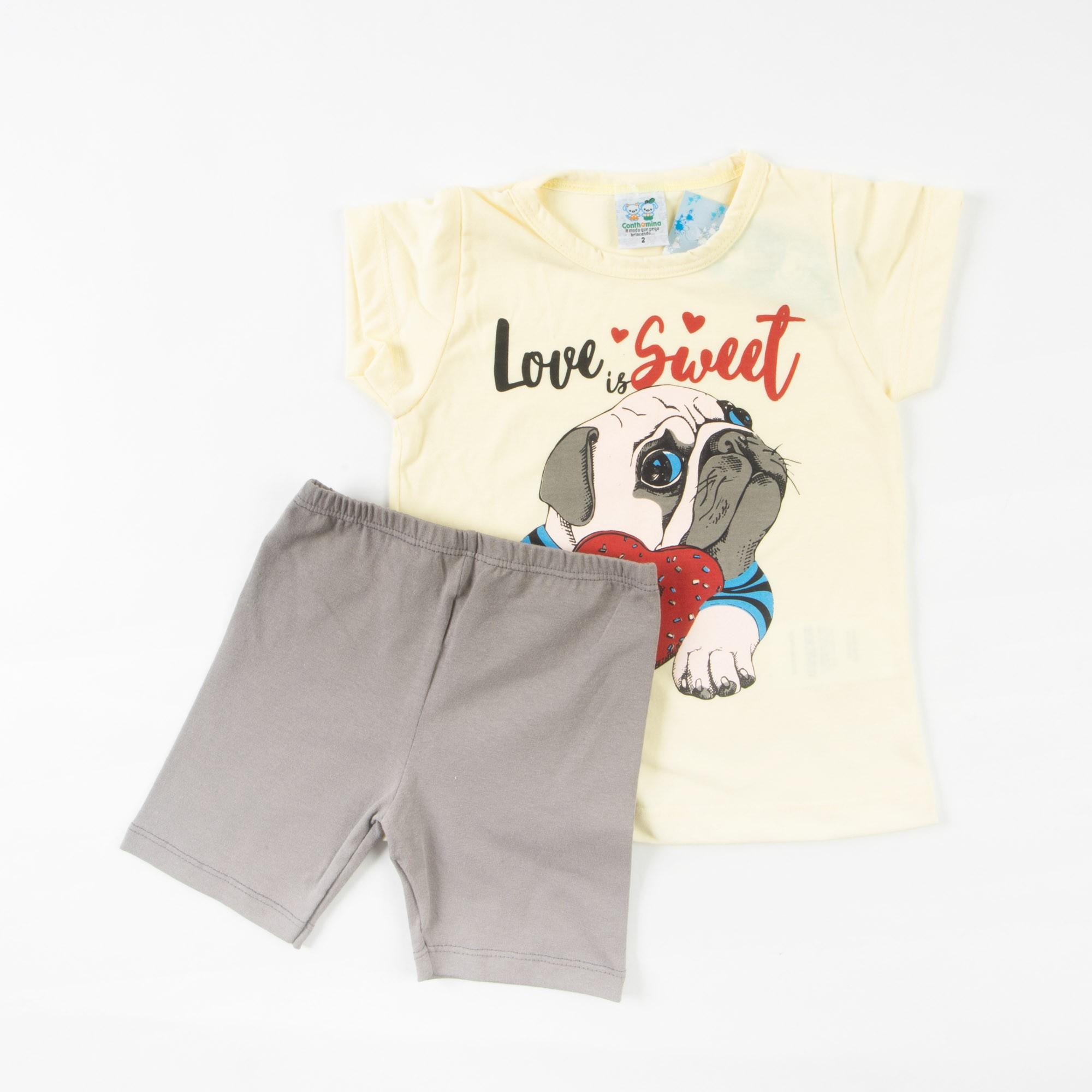 Blusinha Infantil Com Short Legging