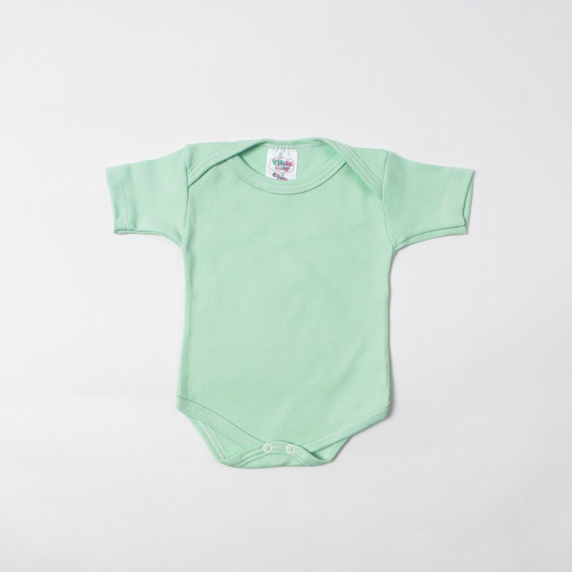 Body Básico Liso De Bebê P/G - Tilele