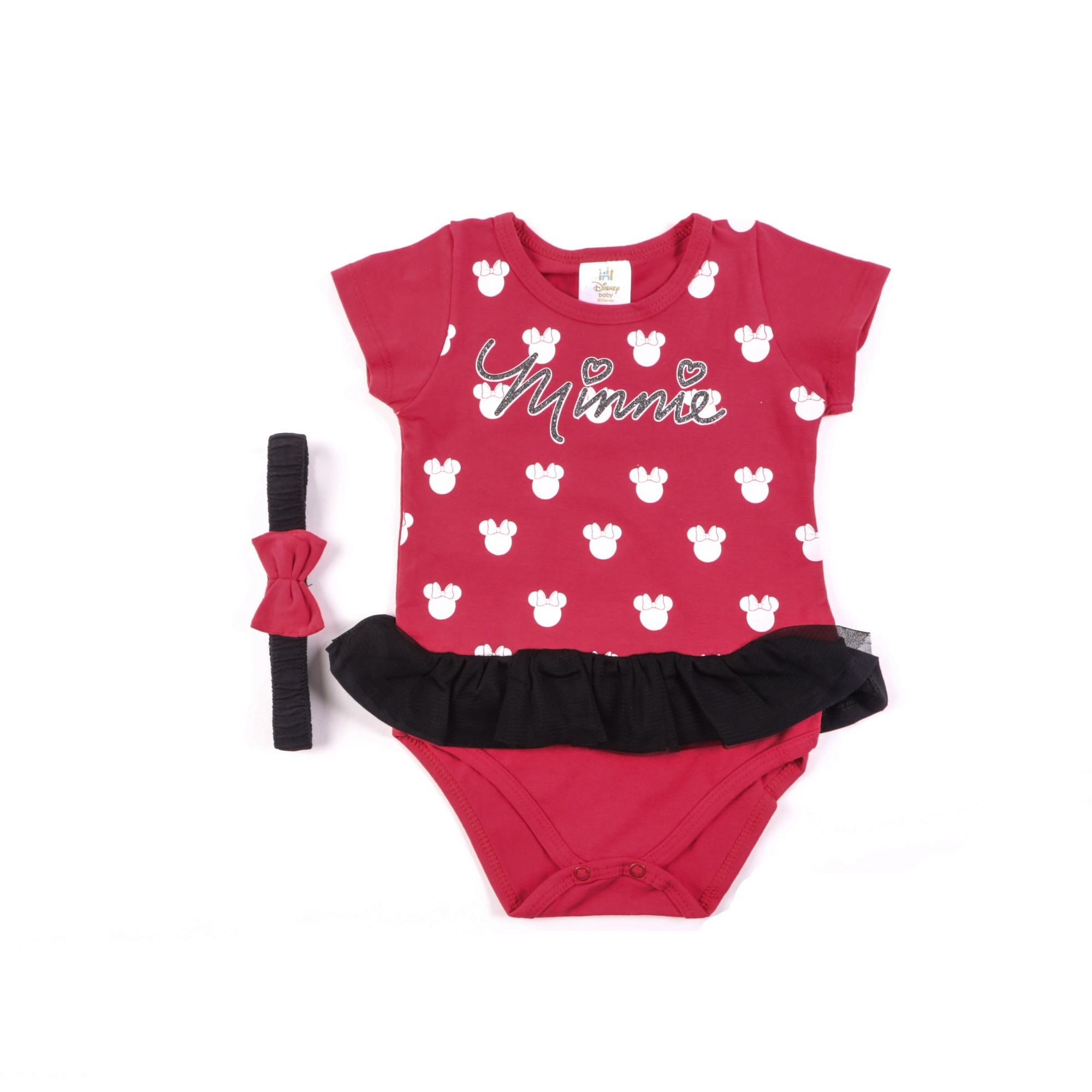 Body Bebê Da Minnie Com Tiara - Marlan