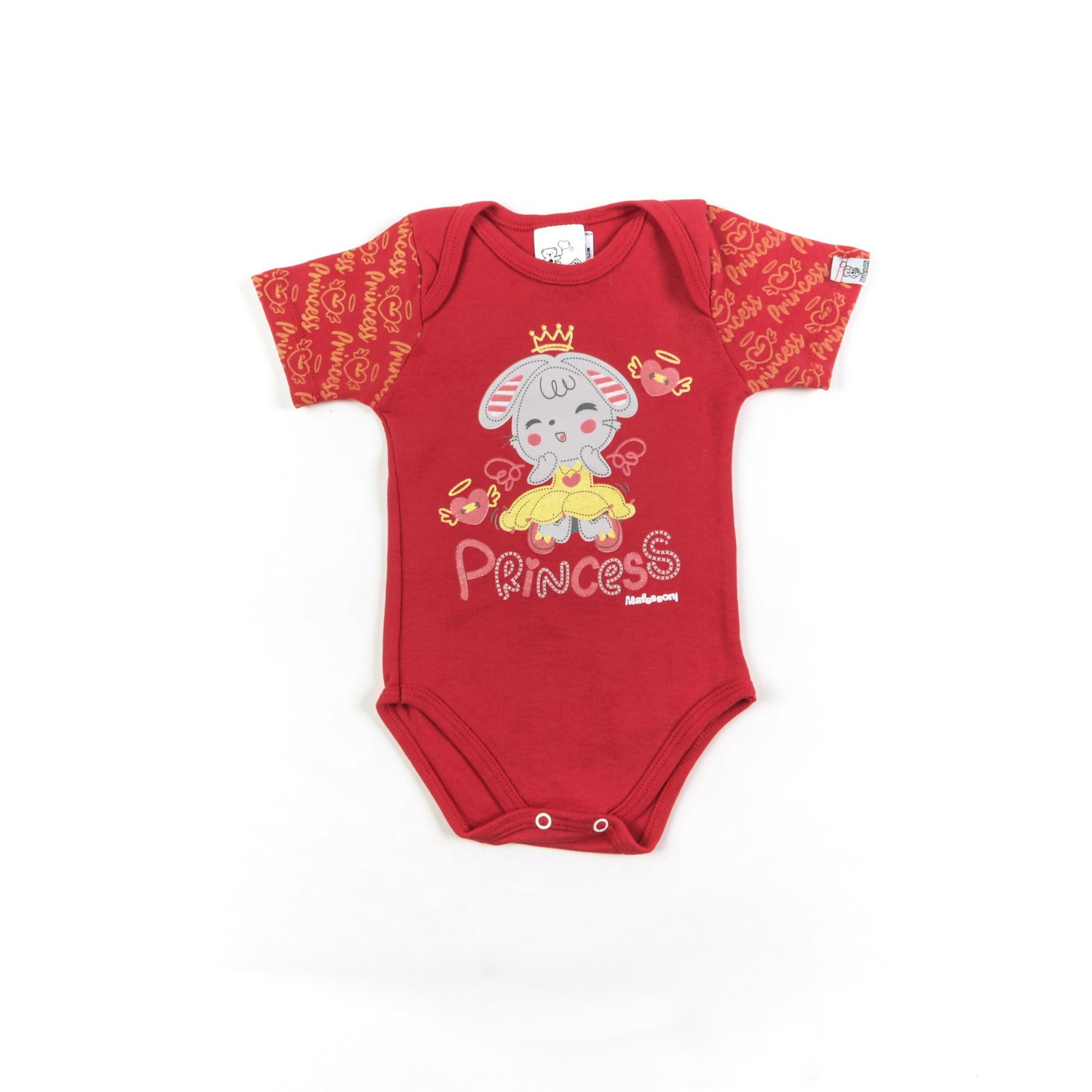 Body Bebê Manga Curta Com Desenhos P/G - Mafessoni