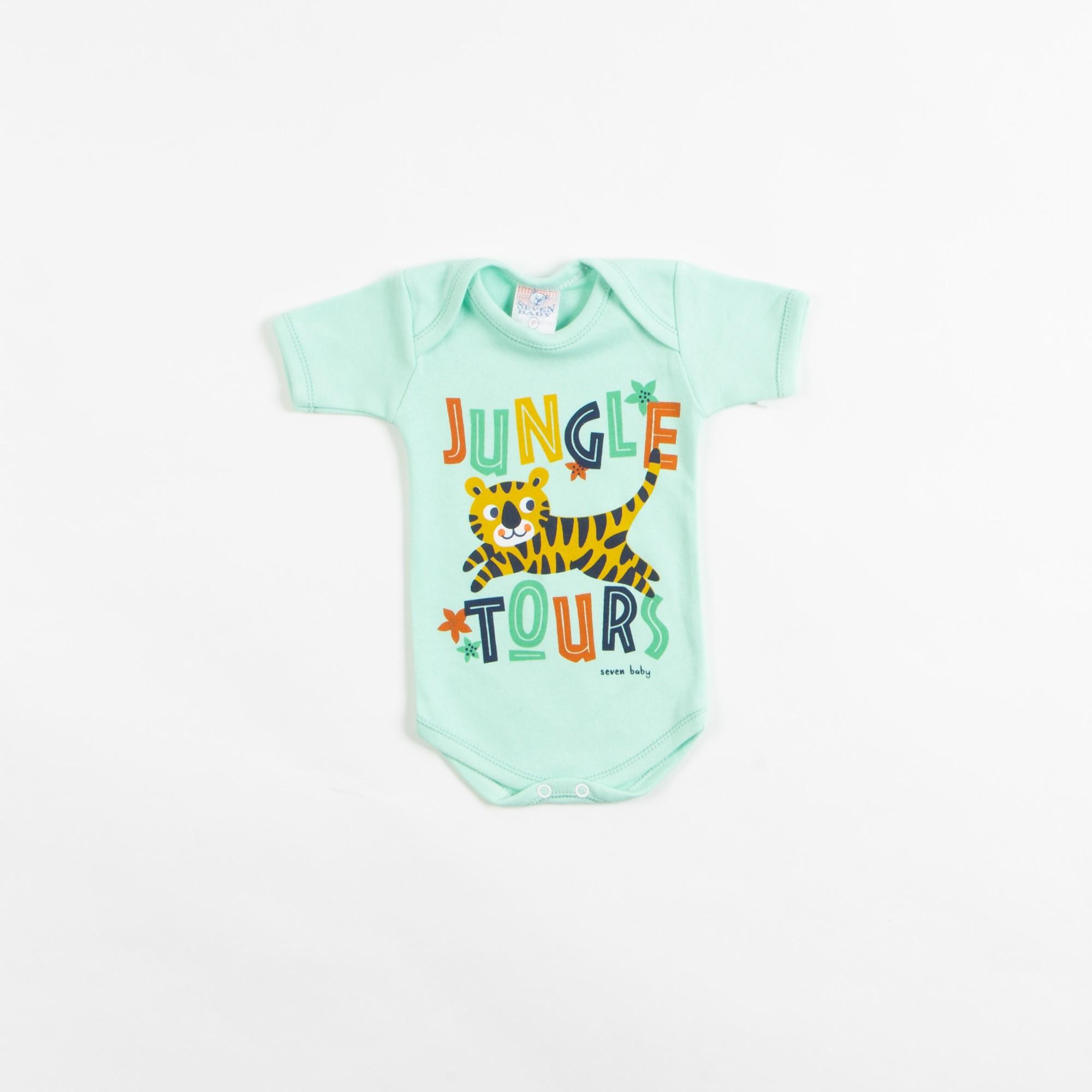 Body Bebê Manga Curta Estampado