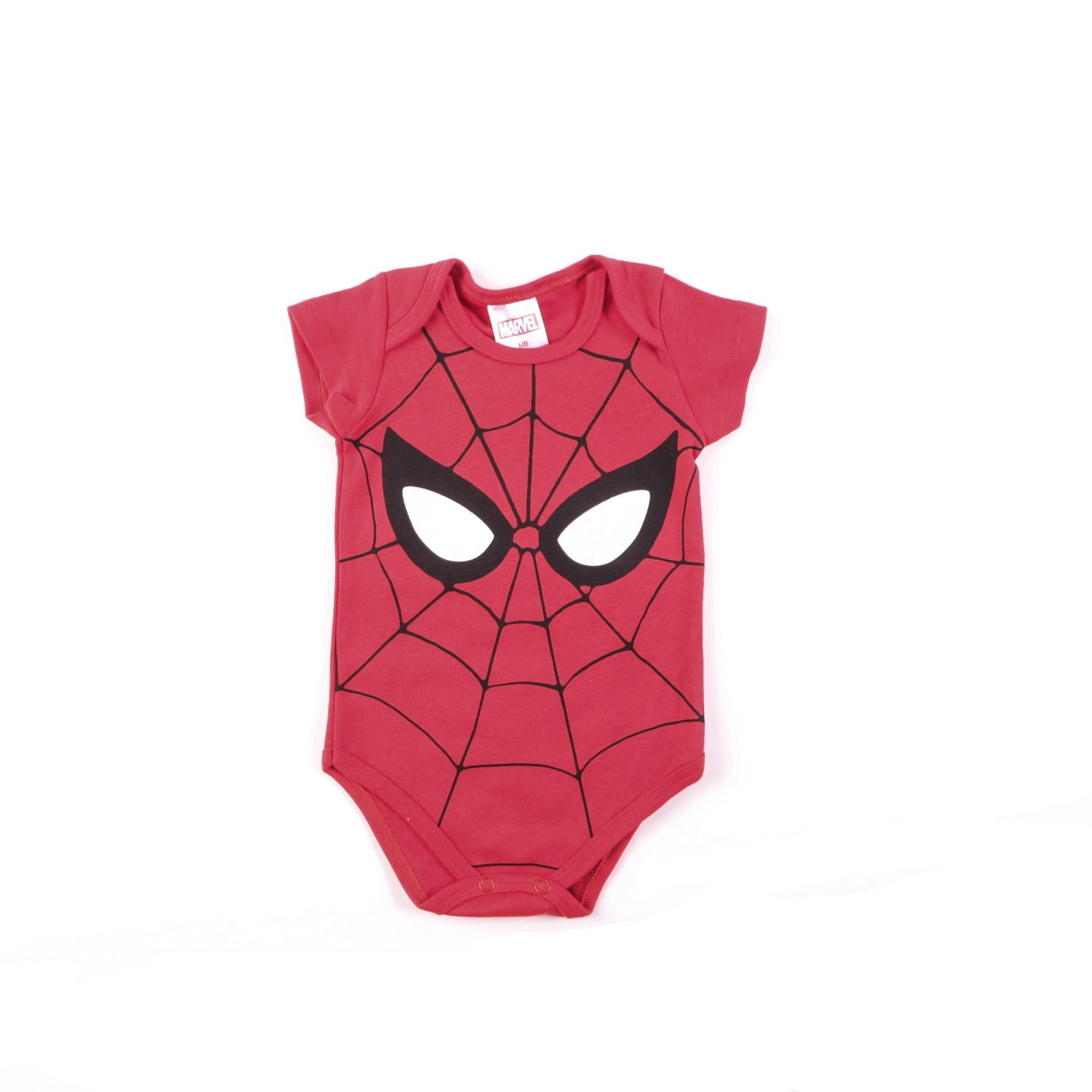 Body Bebê Manga Curta Homem Aranha - Marlan