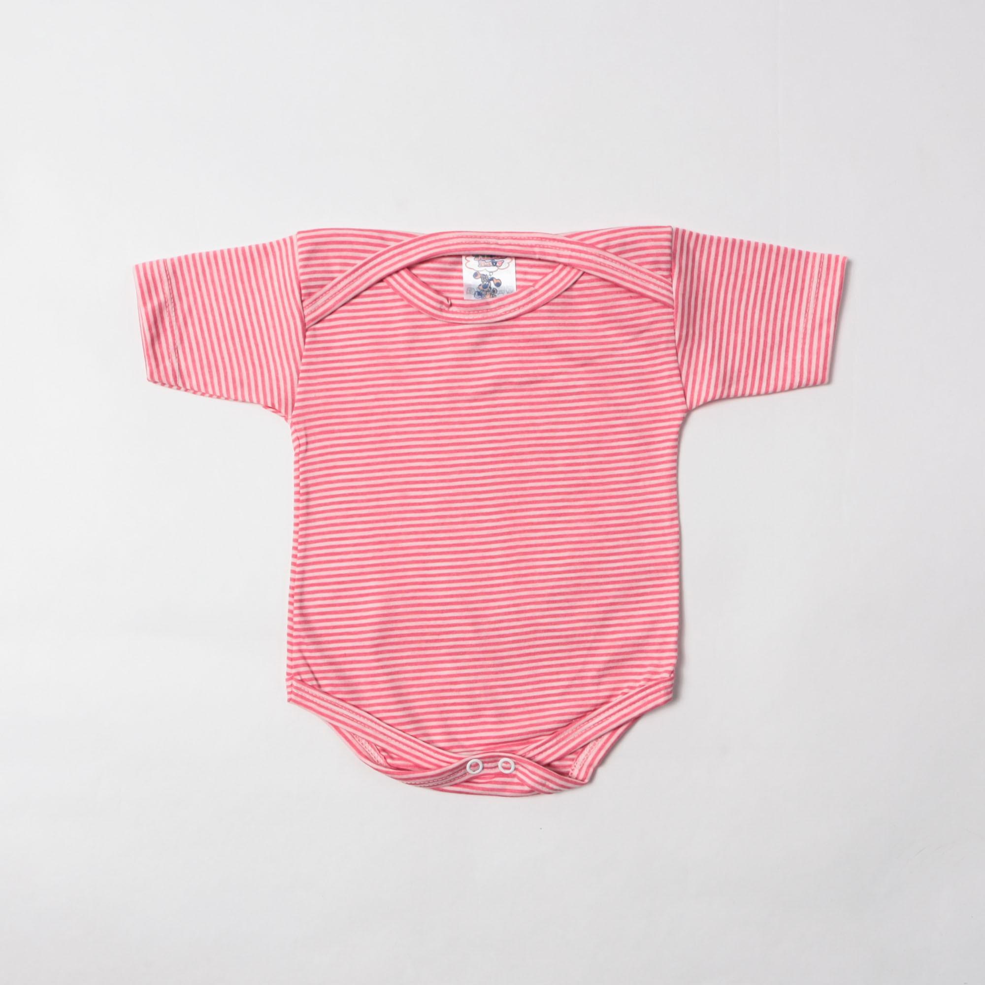Body Bebê Manga Curta Listrado P/G - Tilele