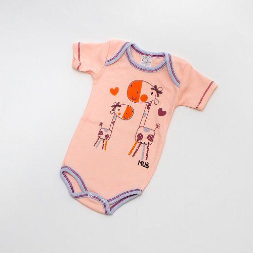Body De Bebê Girafas Manga Curta Mub