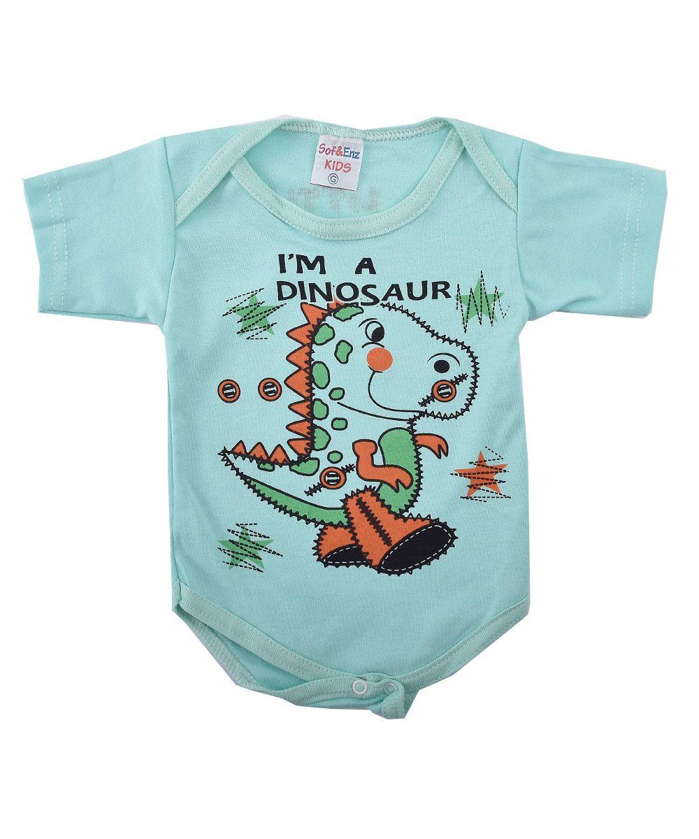5c692cafed99 Body de Bebê Manga Curta Estampa I'm a Dinosaur Sof & Enz Kids