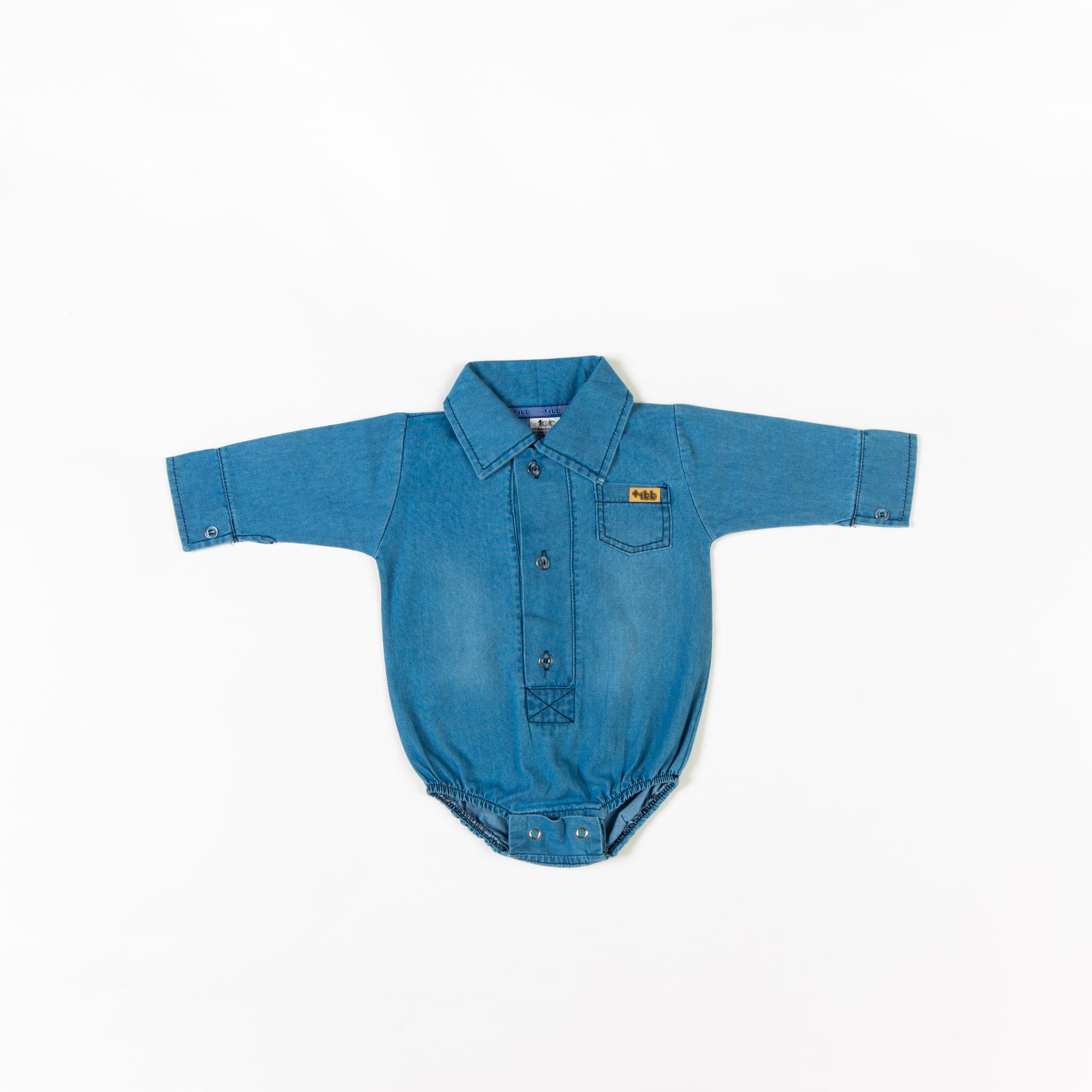 Body Jeans Polo Bebê P/G