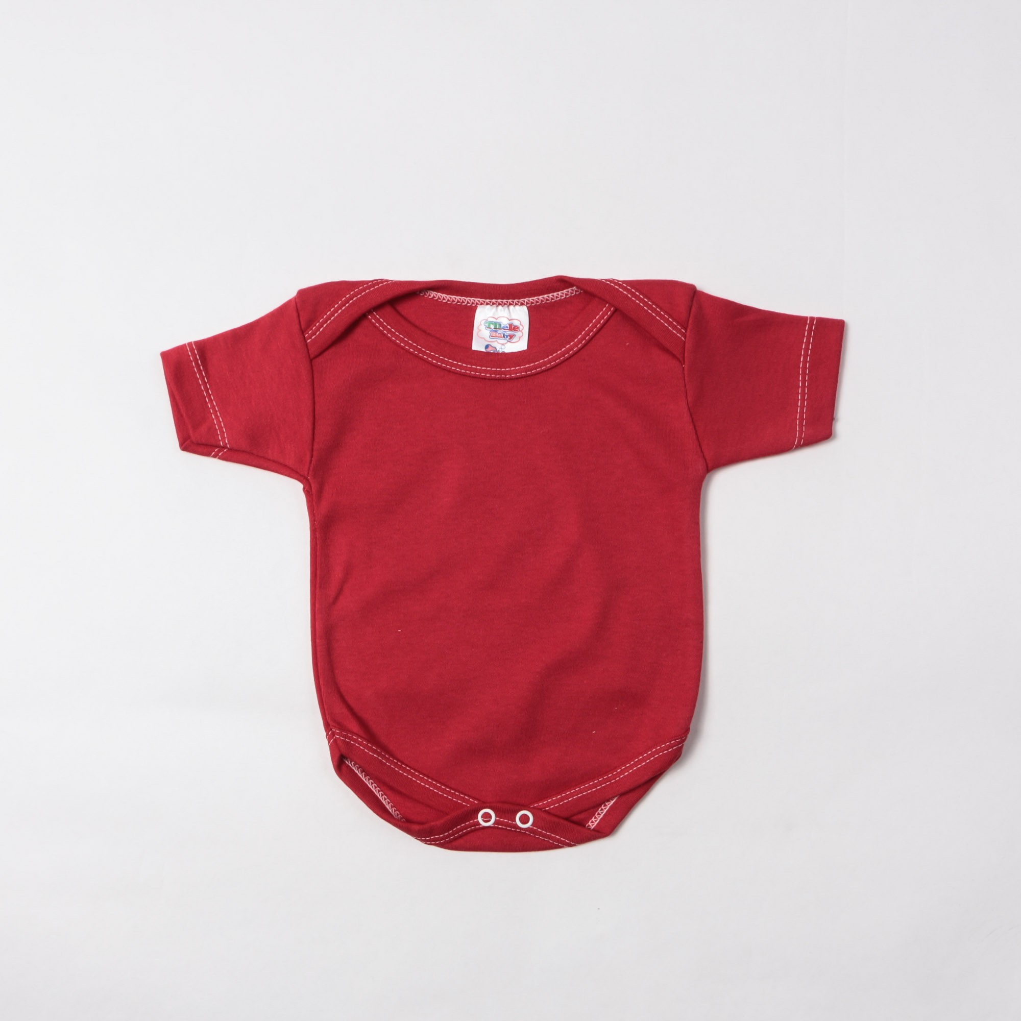 Body Manga Curta Bebê Liso P/G - Tilele