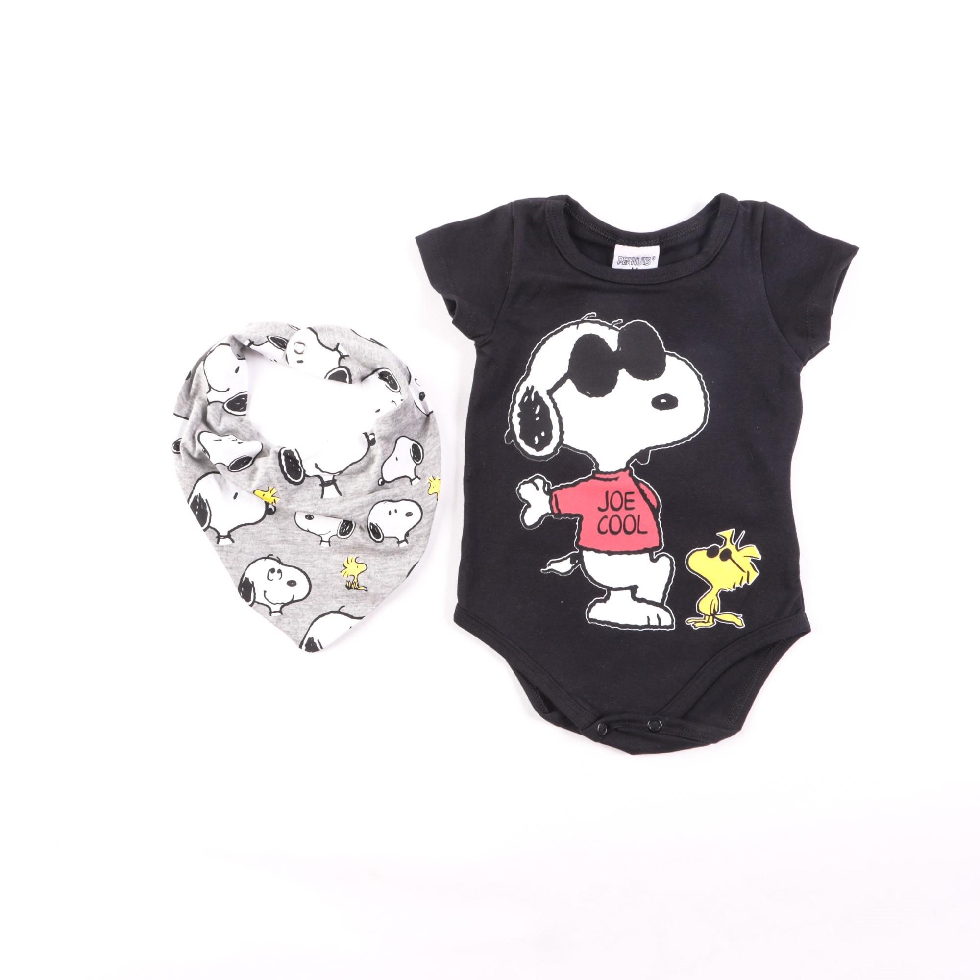 Body Snoopy Bebê Com Babador - Marlan