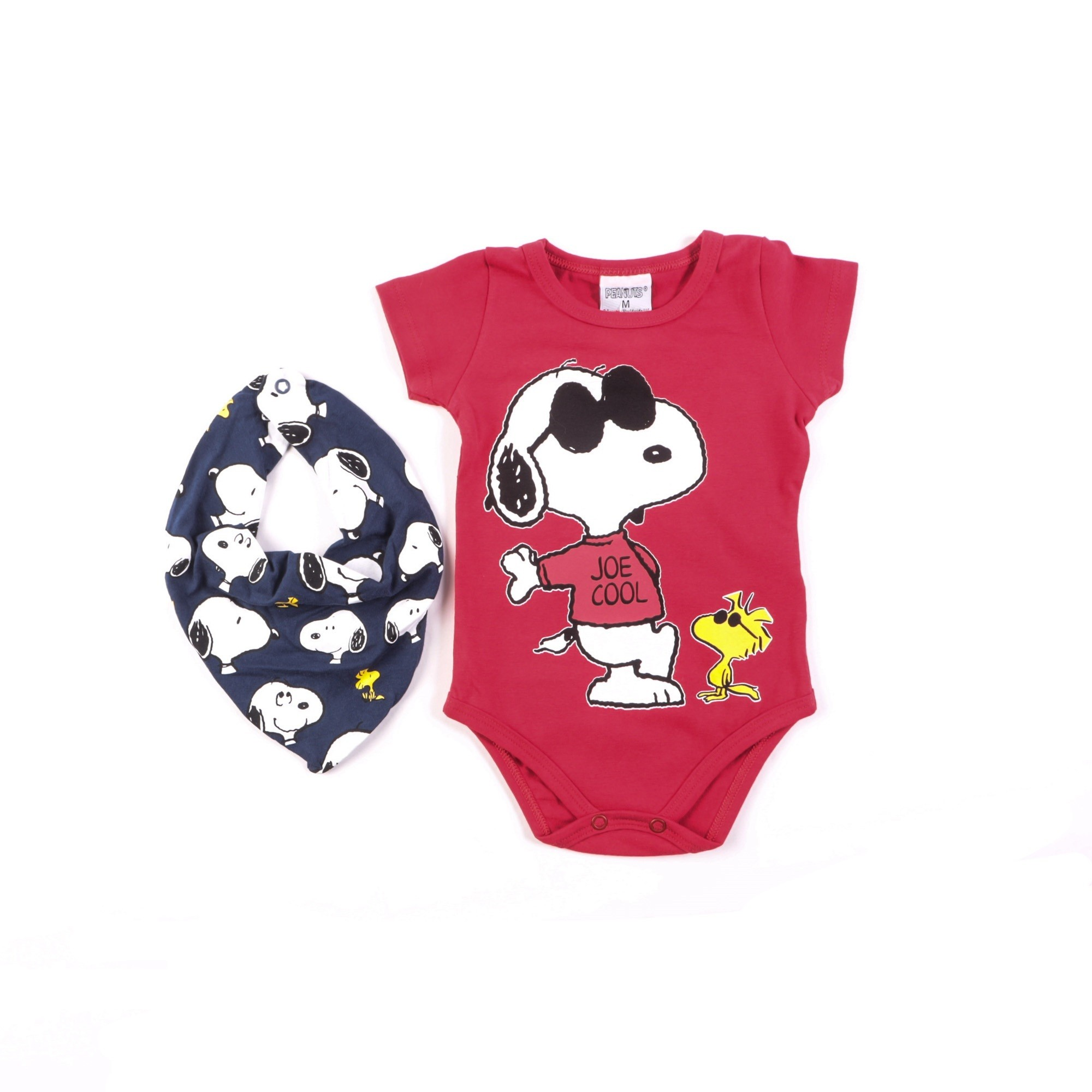 Body Snoopy Infantil Com Babador - Marlan