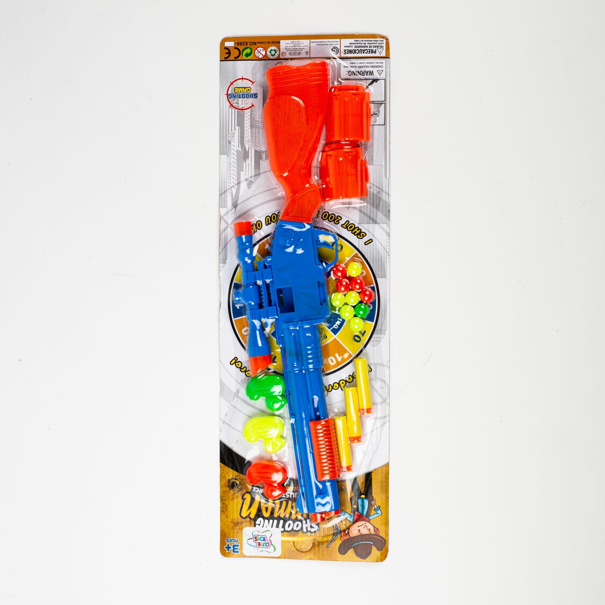 Brinquedo Infantil Pistola Lança Dardo E Bolinhas