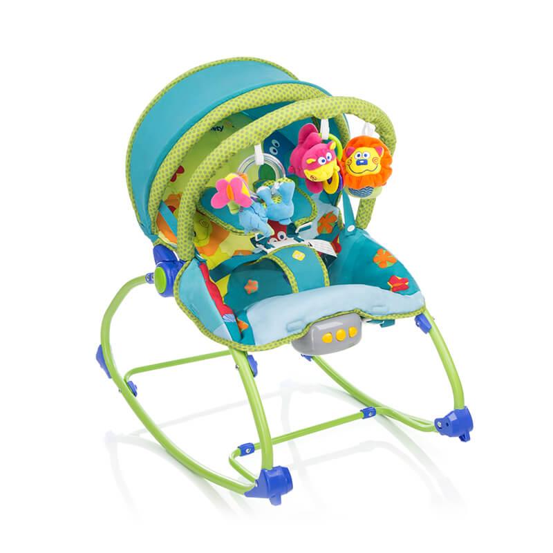 Cadeira de Descanso Sunshine Baby Vibratória Azul 1st - Safety