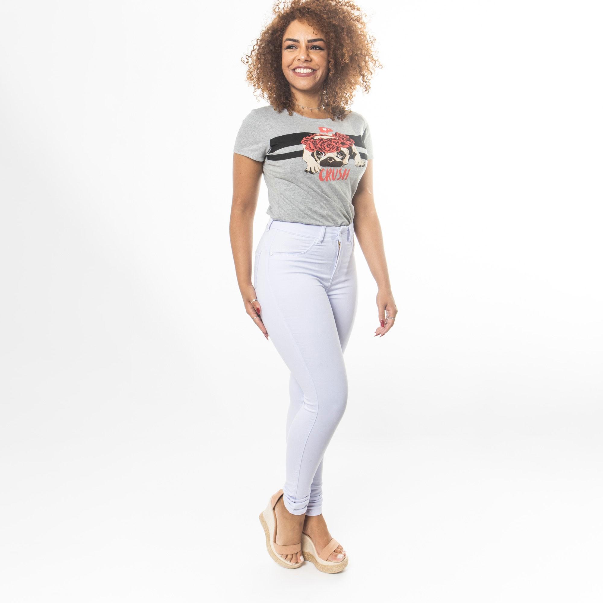 Calça Branca Jeans Cintura Alta -Potêncial Jeans
