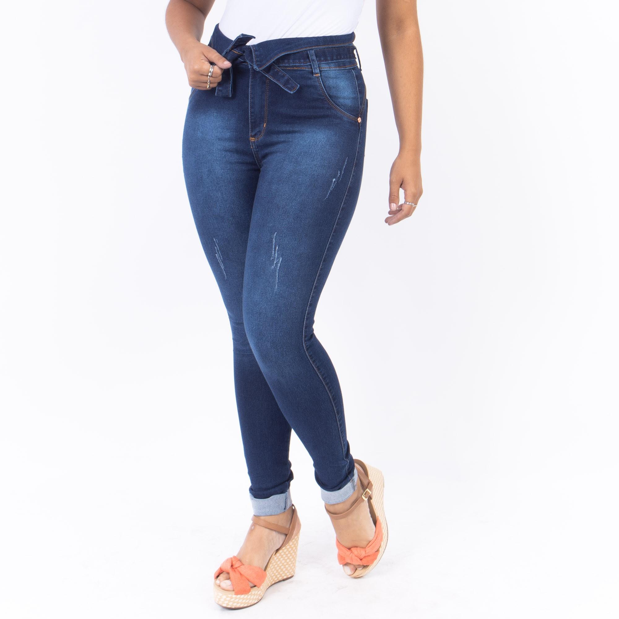 Calça Clochard Jeans Escuro