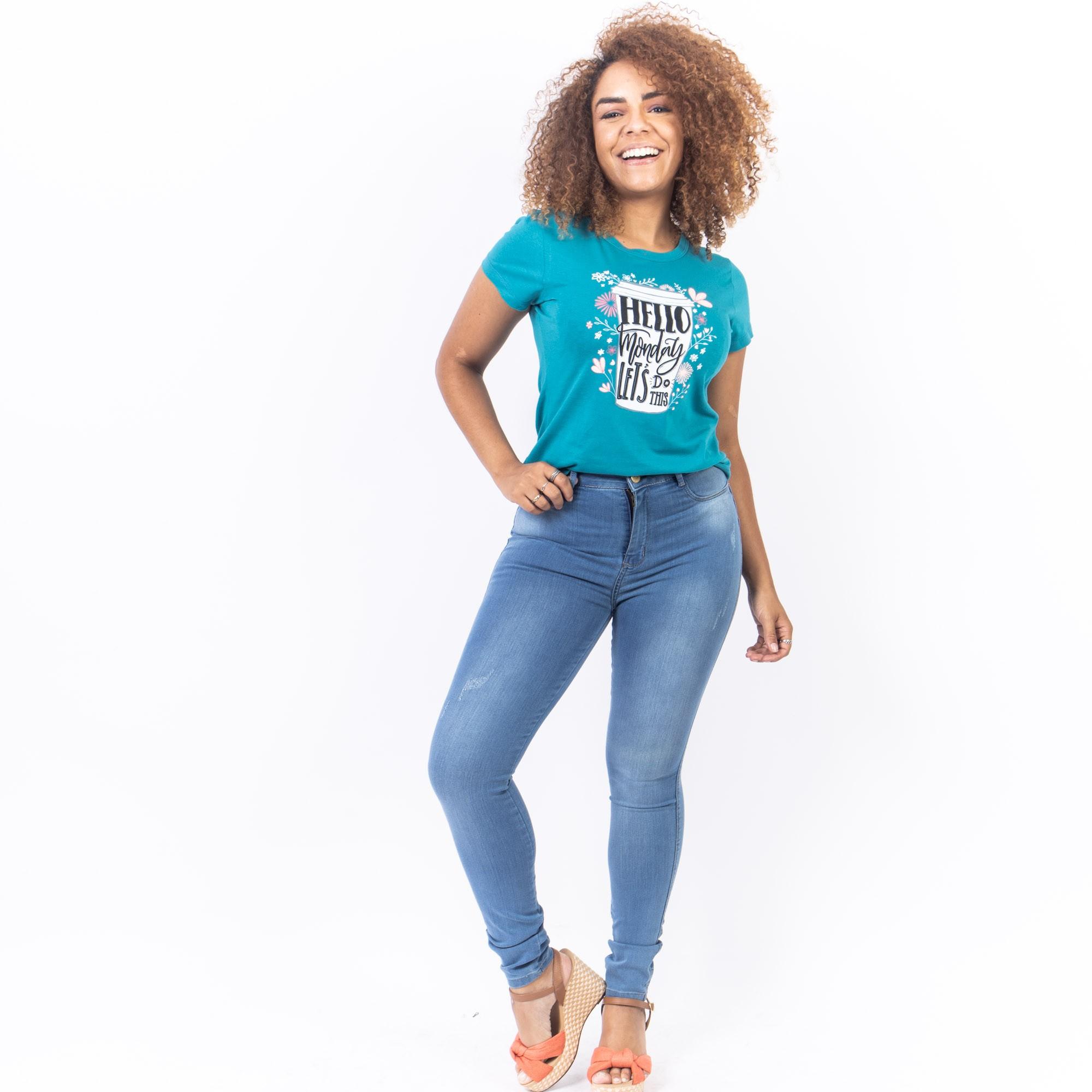 Calça Jeans Clara Com Puídos