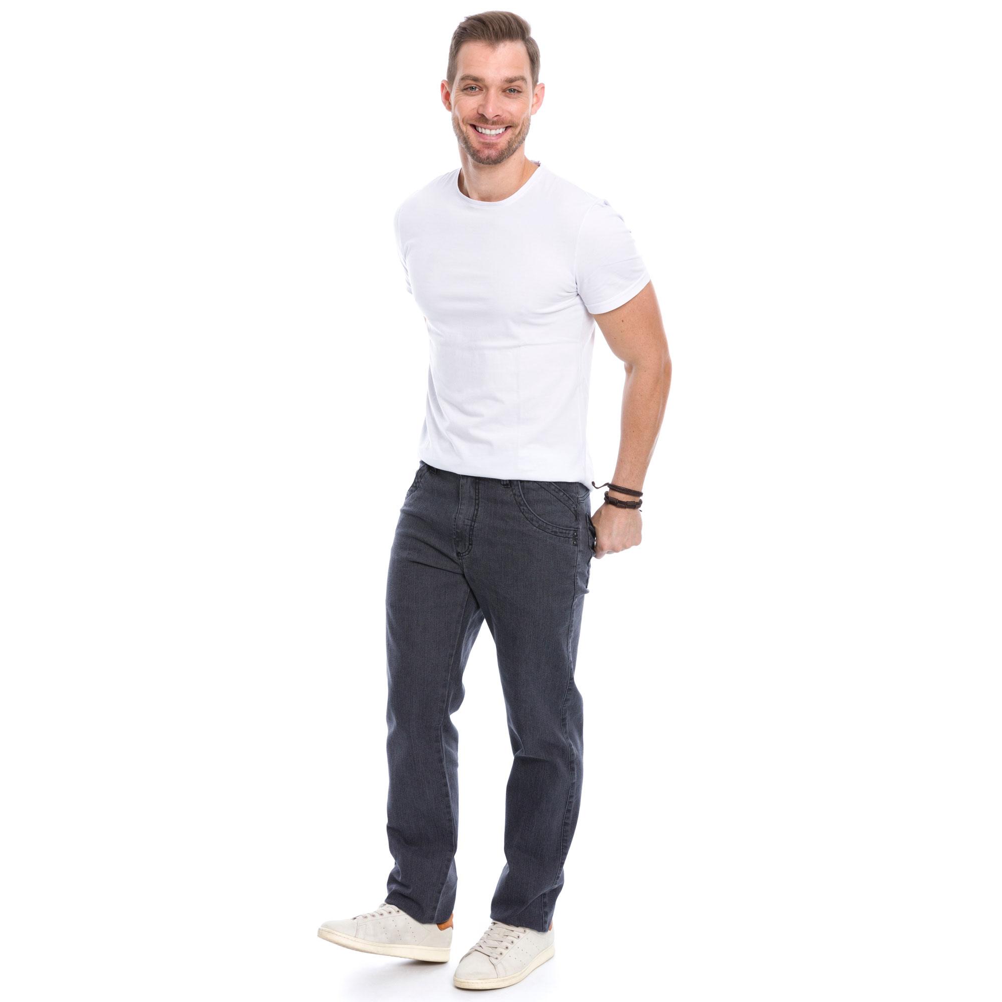 Calça Slim Jeans Escuro