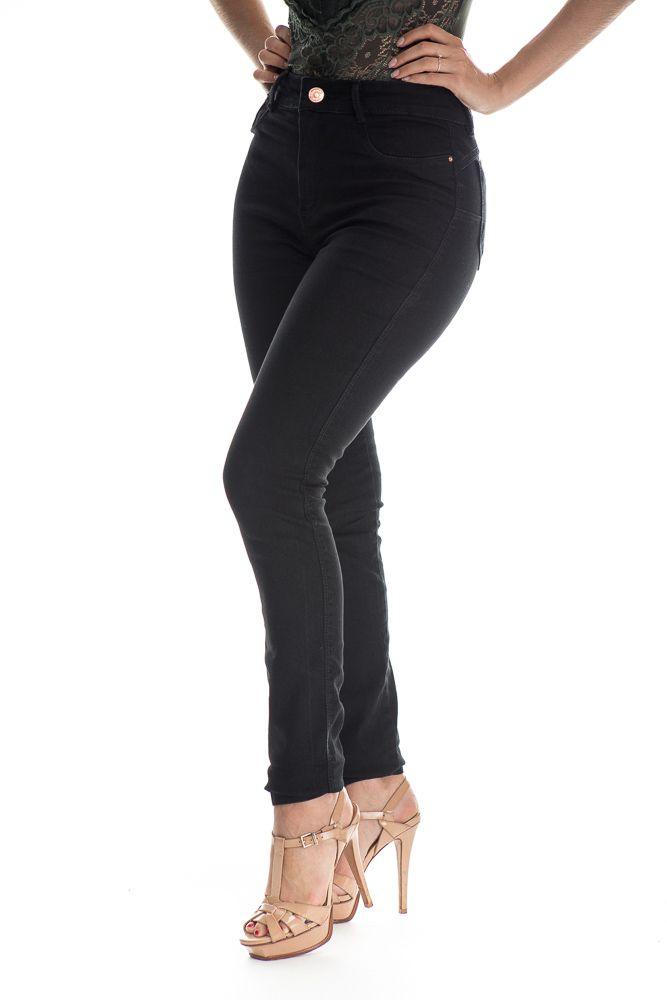 Calça Jeans Básica Lisa Preta