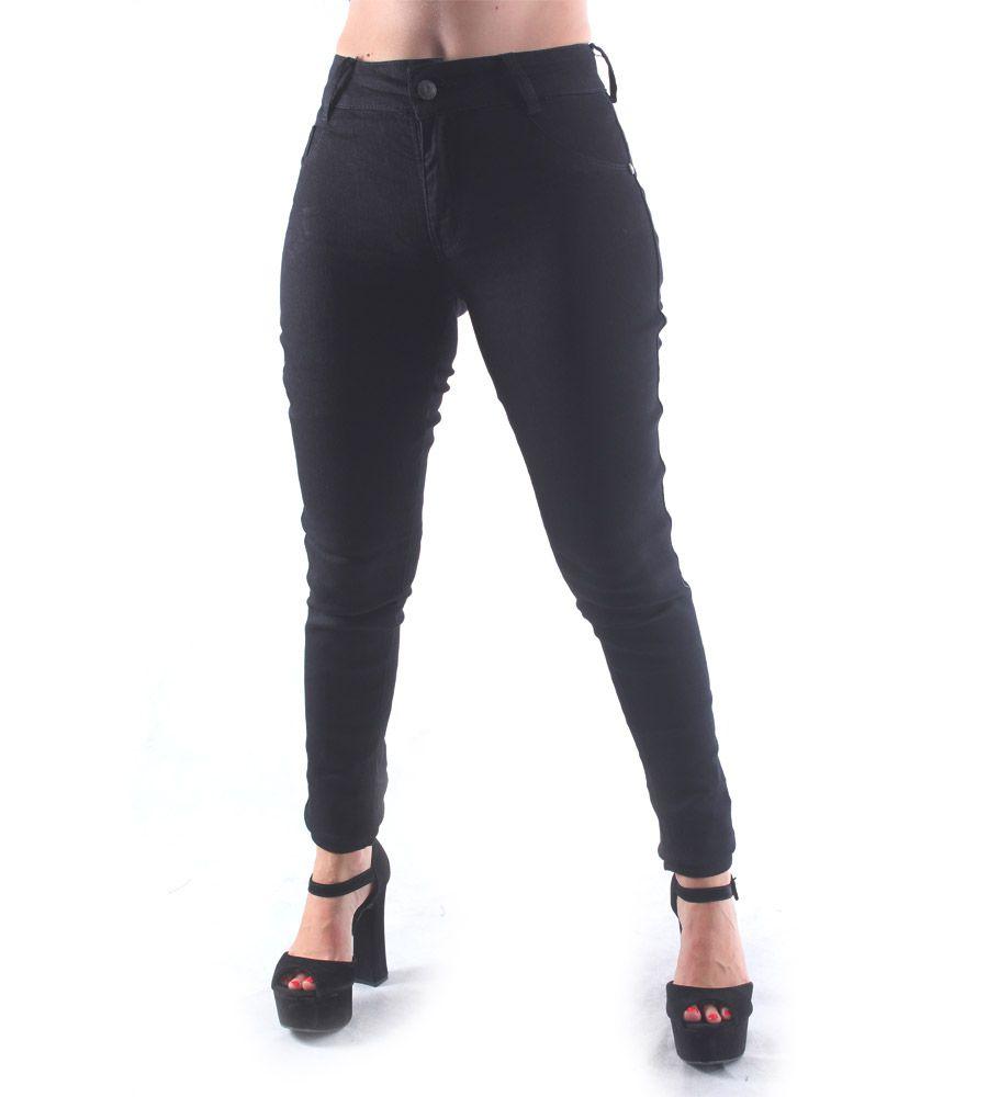Calça Jeans Skinny Básica Preta