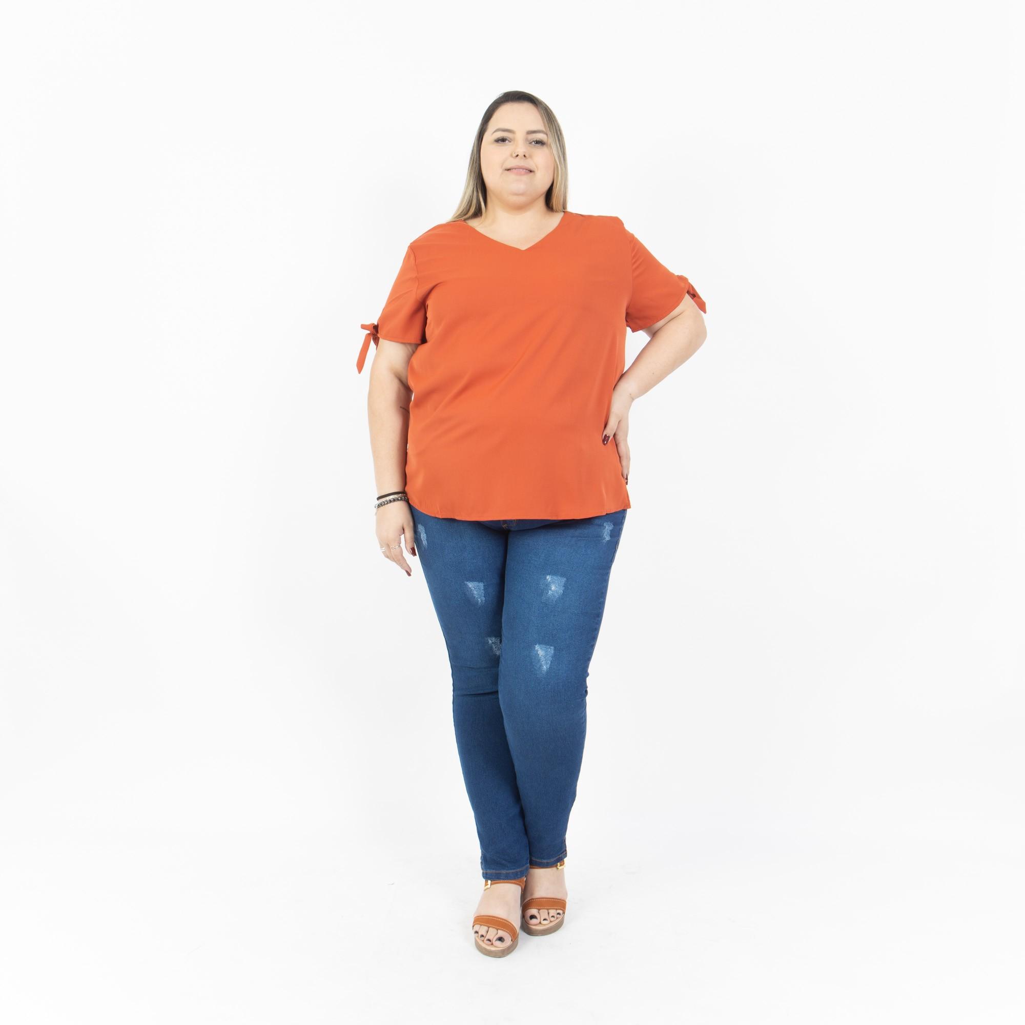 Calça Jeans Plus Size Cintura Alta - Potencial Jeans