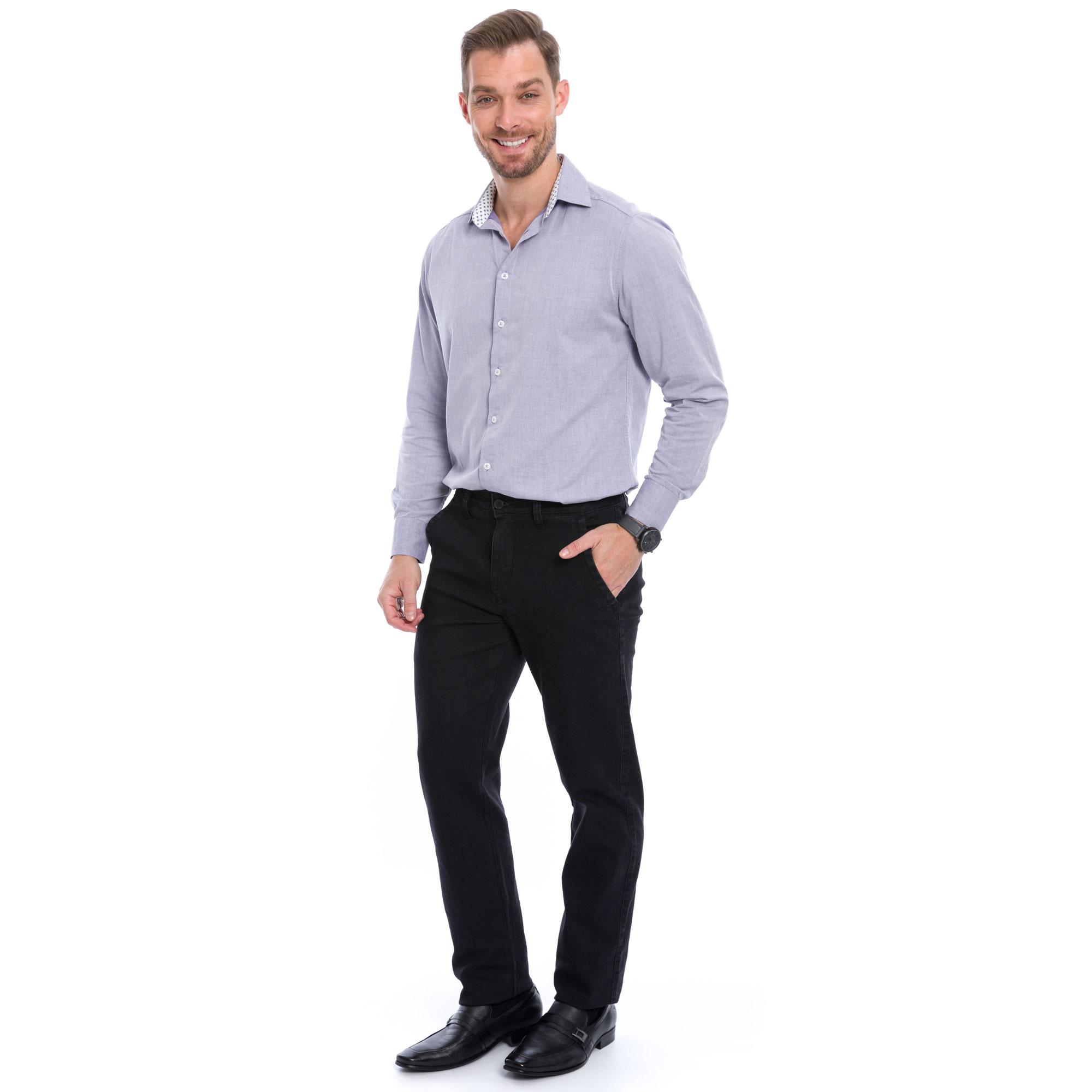 Calça Jeans Slim Preto