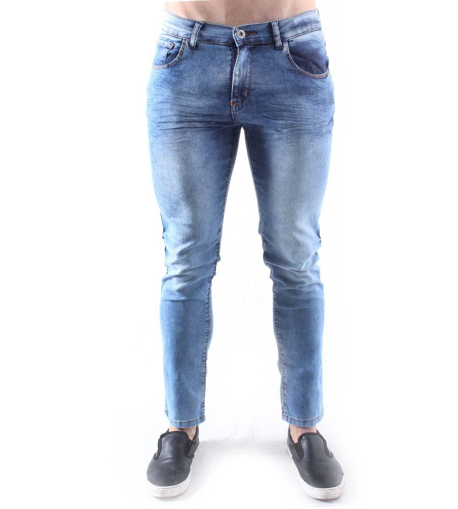 Calça Jeans Skinny Aizone Masculina Marmorizada