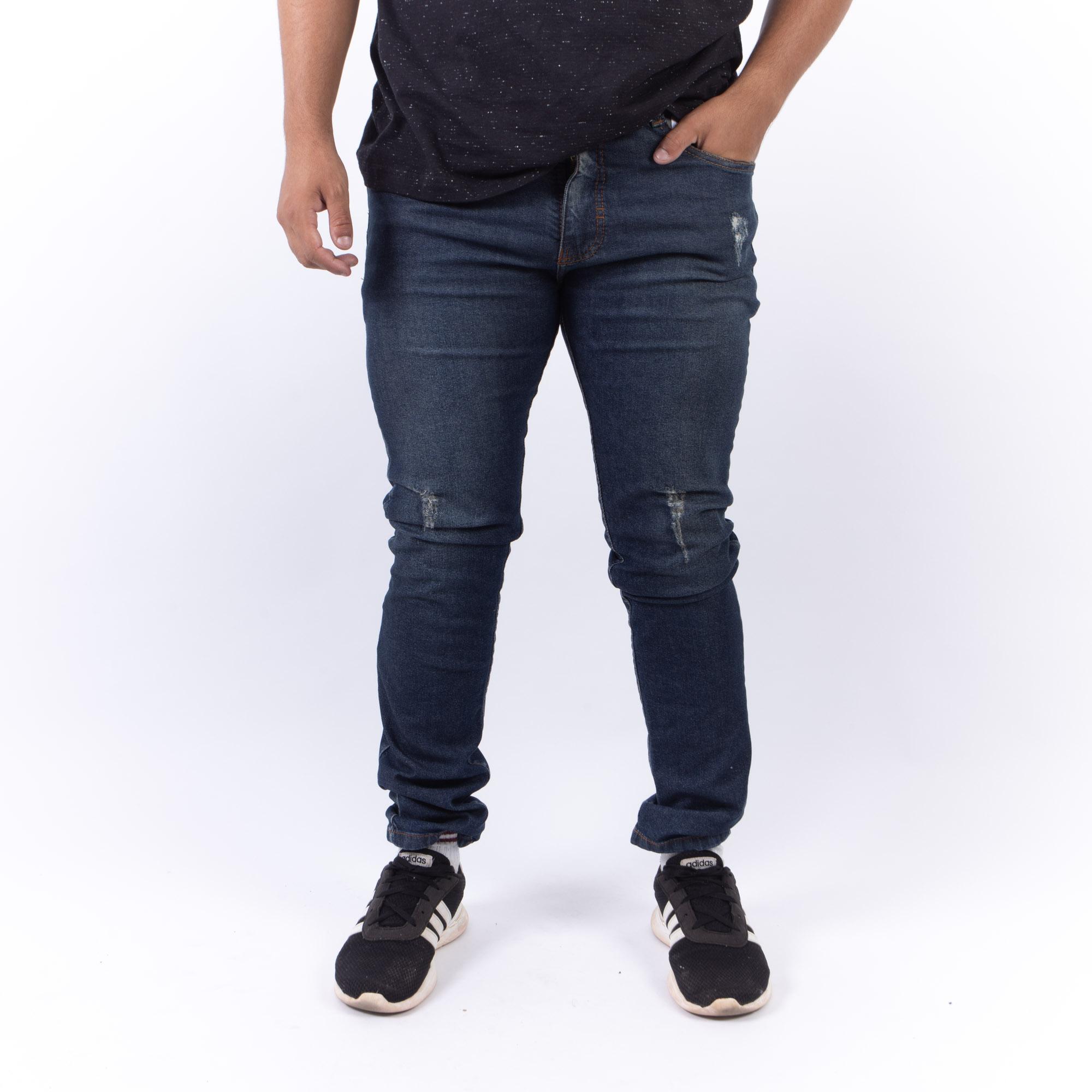 Calça Jeans Slim Confort Com Puídos -Ecko Unltd